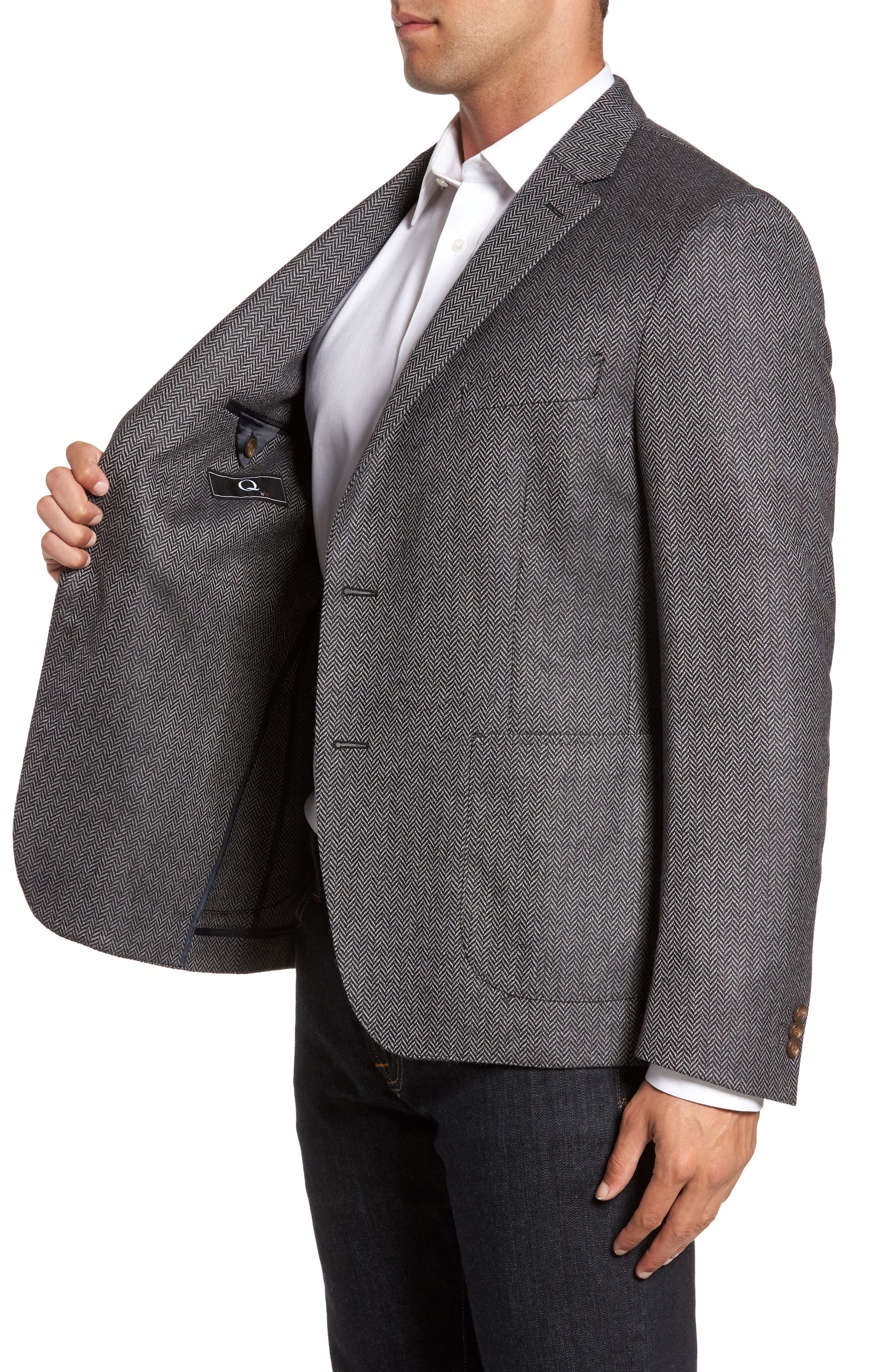Alternate Image 3  - FLYNT Classic Fit Herringbone Wool & Cashmere Jersey Sport Coat