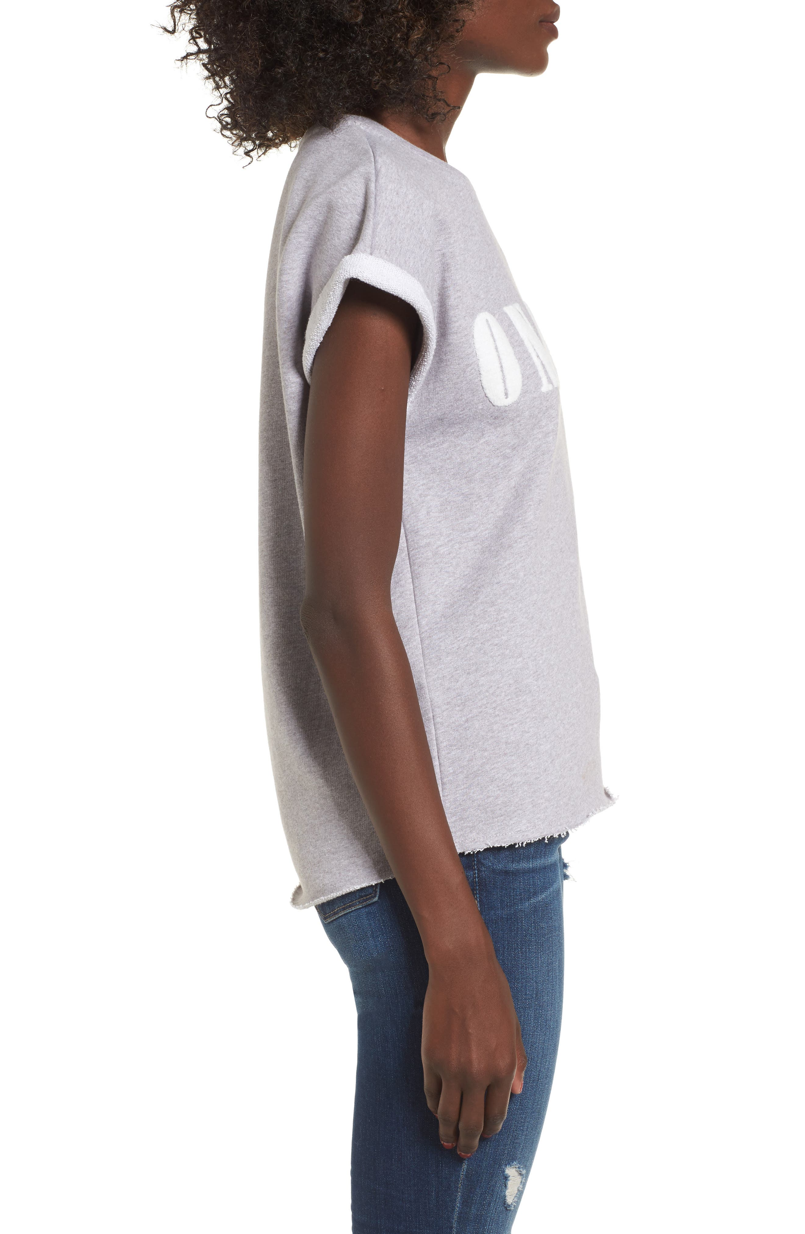 Alternate Image 3  - SuperTrash Tear Cutoff Sweatshirt