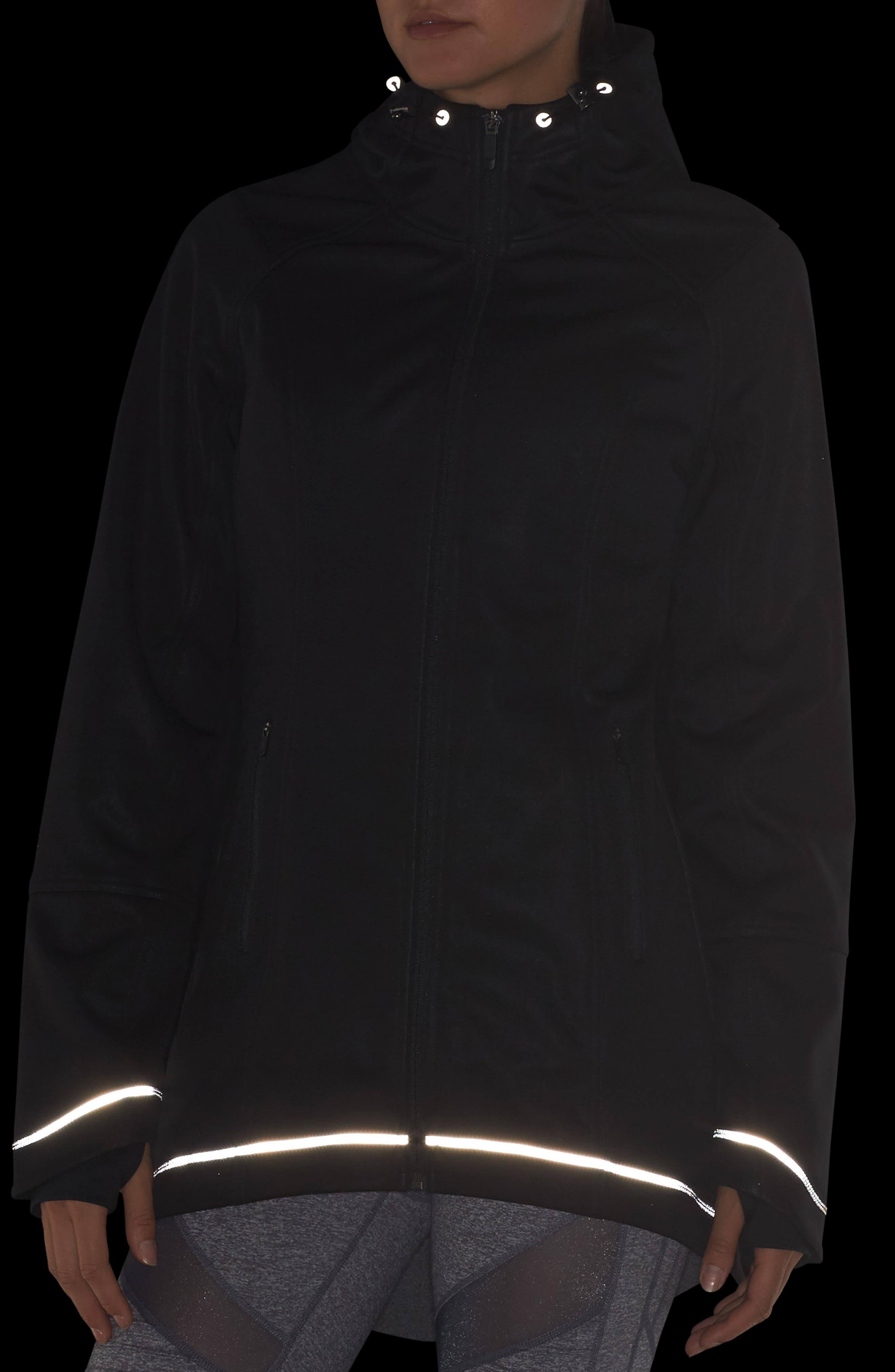 At the Edge Softshell Jacket,                             Alternate thumbnail 4, color,                             Black