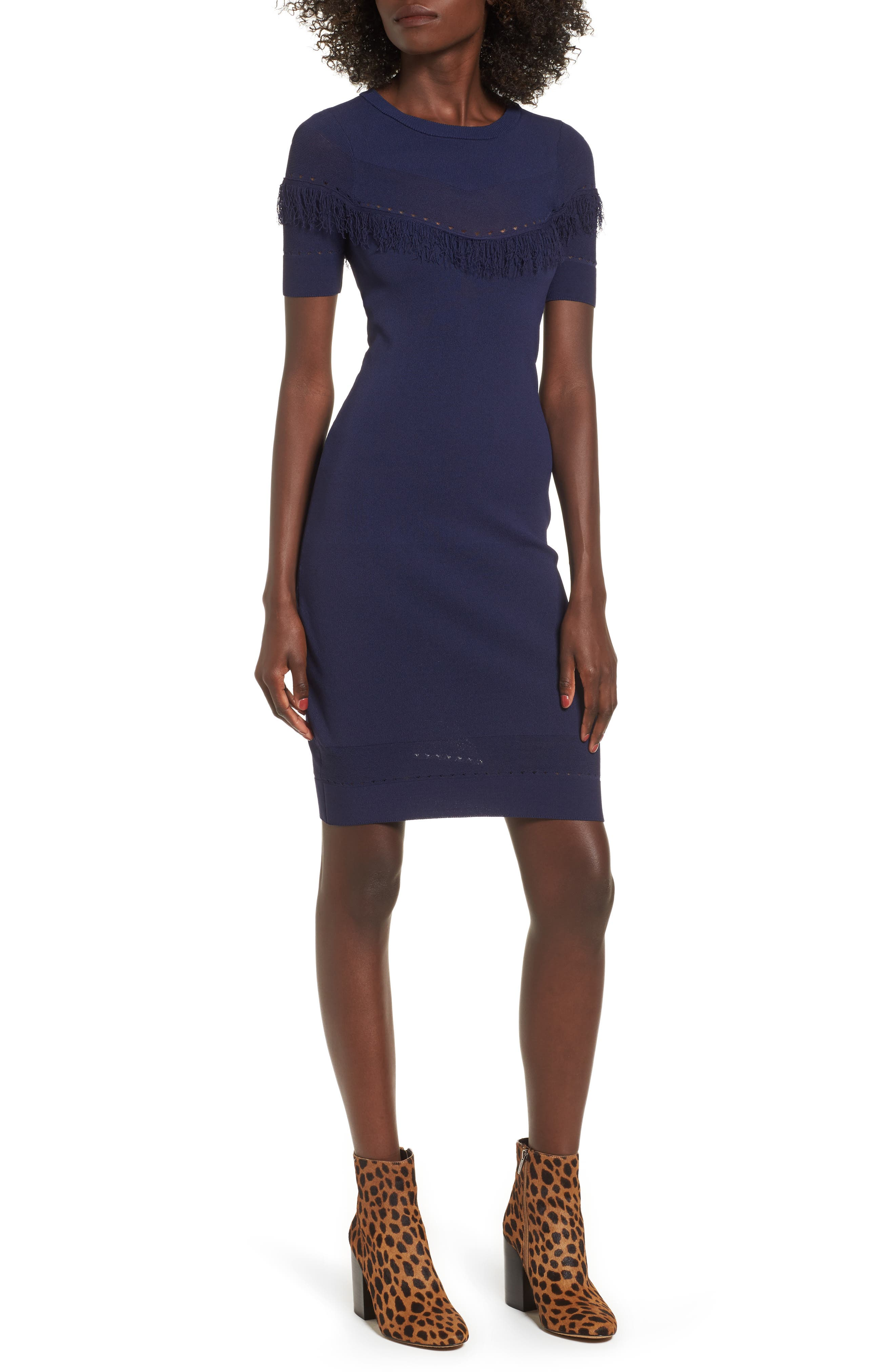 Dash Sheath Dress,                             Main thumbnail 1, color,                             Evening Blue