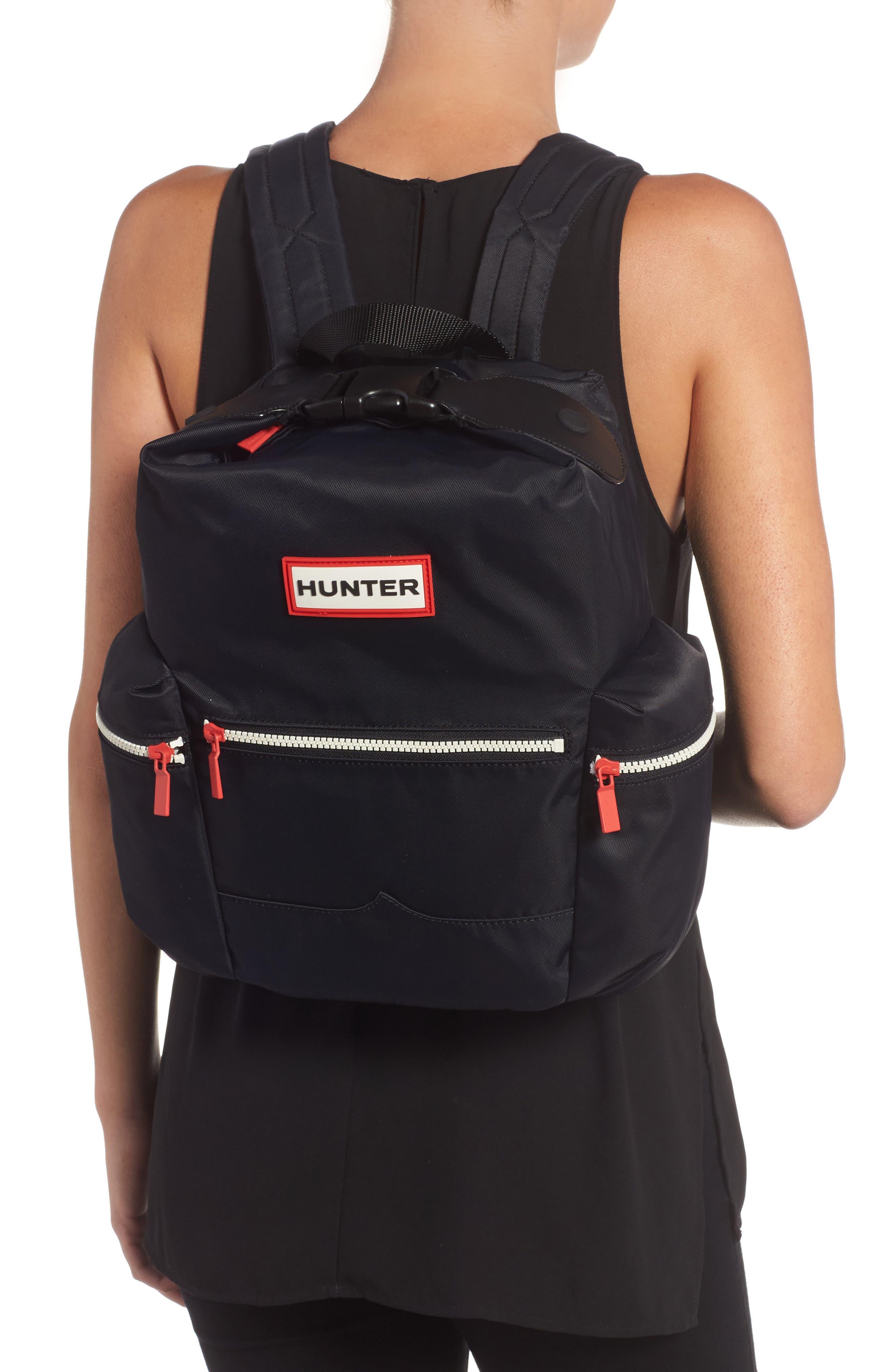 Original Mini Top Clip Nylon Backpack,                             Alternate thumbnail 2, color,                             Black