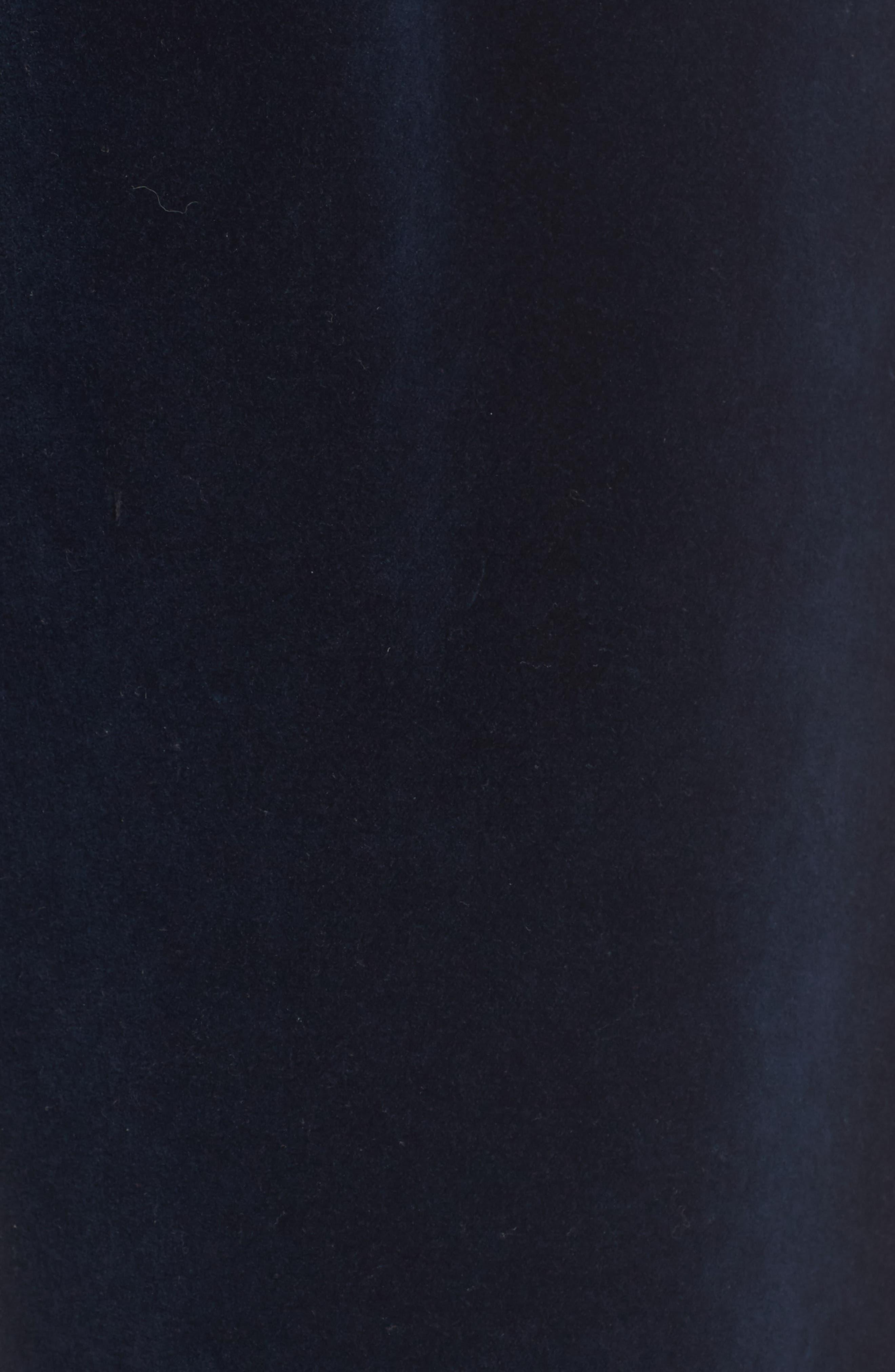 Aria Velvet Track Pants,                             Alternate thumbnail 5, color,                             Dark Obsidian