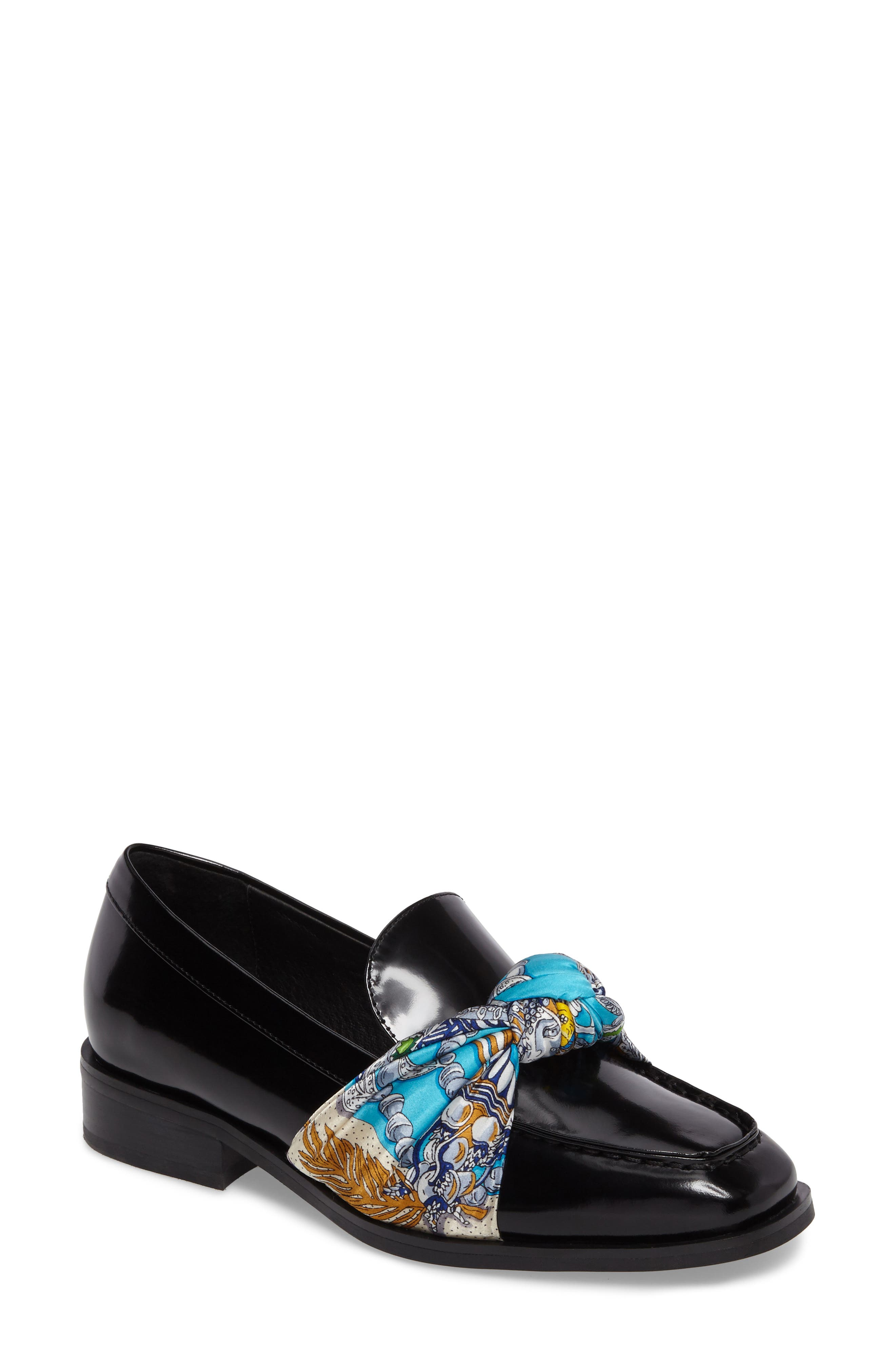 Bollero Loafer,                         Main,                         color, Black Box/ Blue Gold Print