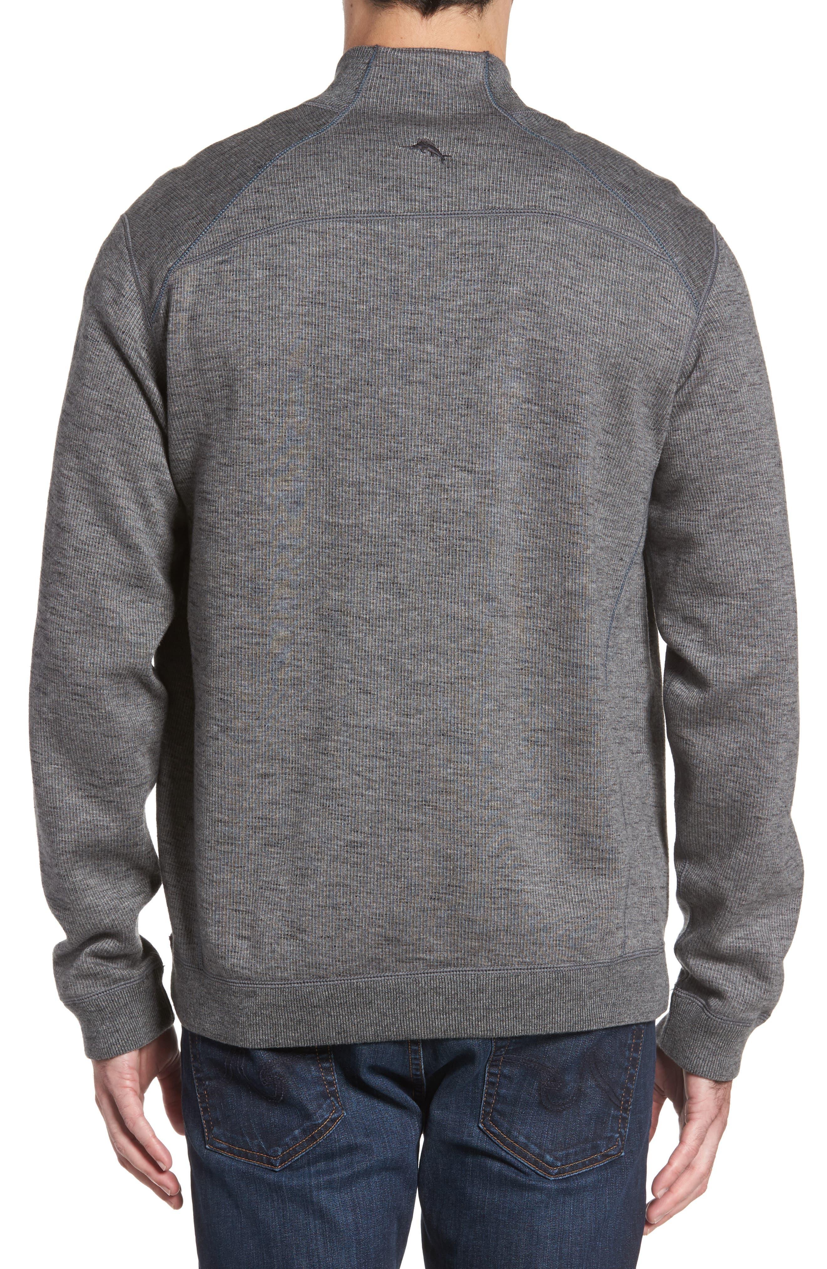 Alternate Image 2  - Tommy Bahama Flipsider Half Zip Reversible Sweatshirt