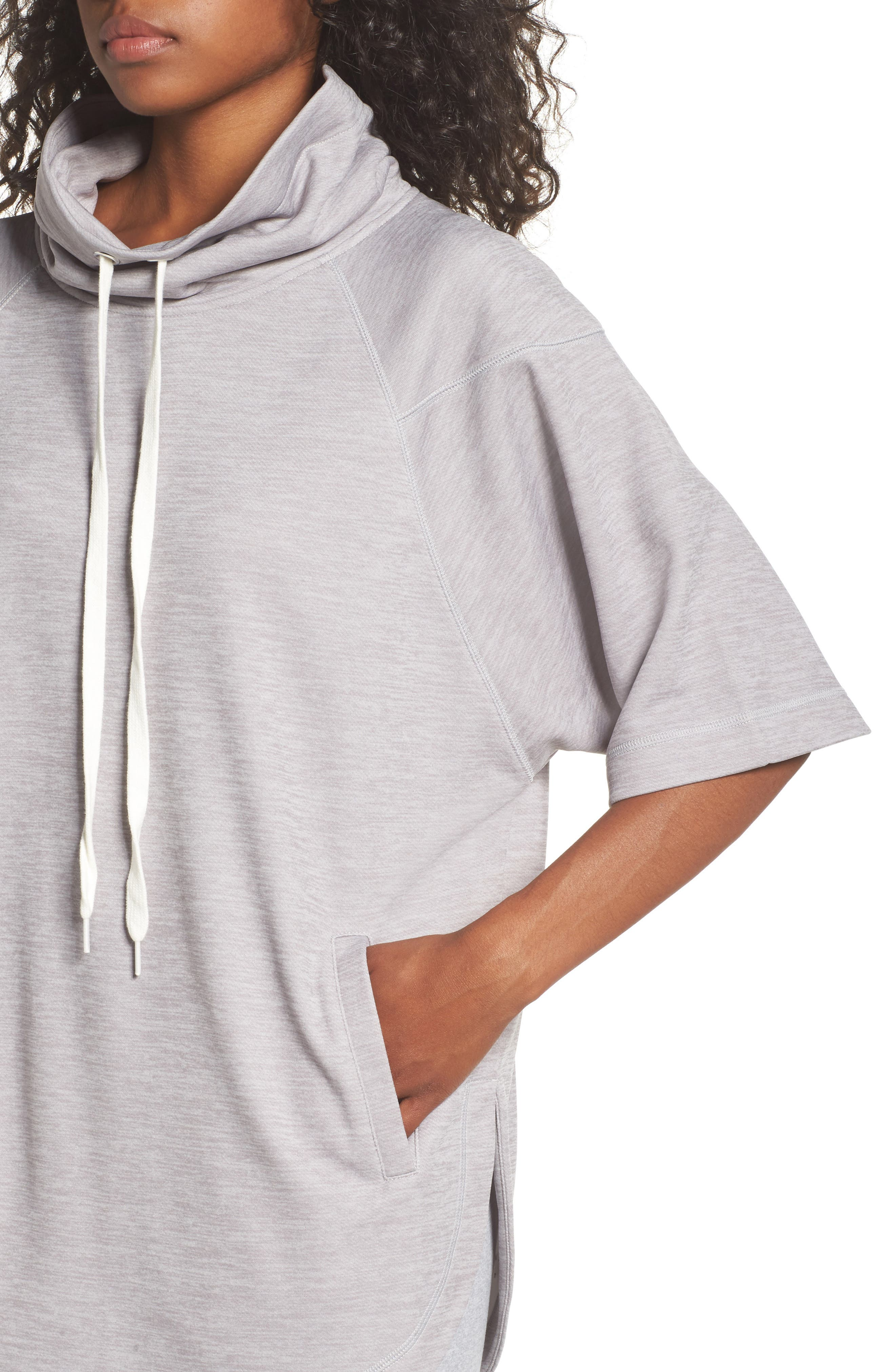 Get It Girl Pullover,                             Alternate thumbnail 4, color,                             Grey Wolf