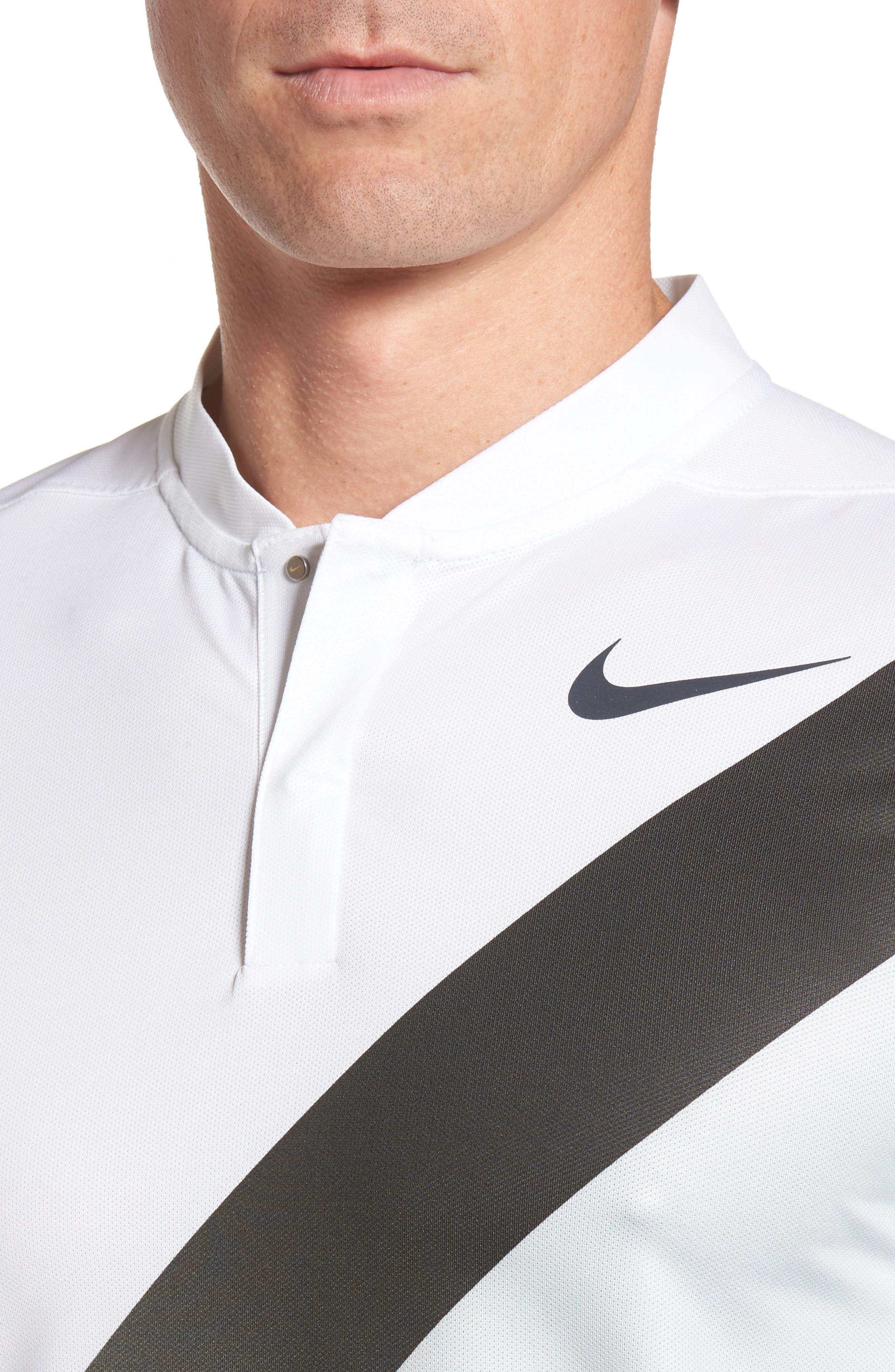 Dry Golf Polo,                             Alternate thumbnail 4, color,                             White/ Platinum/ Black/ Black