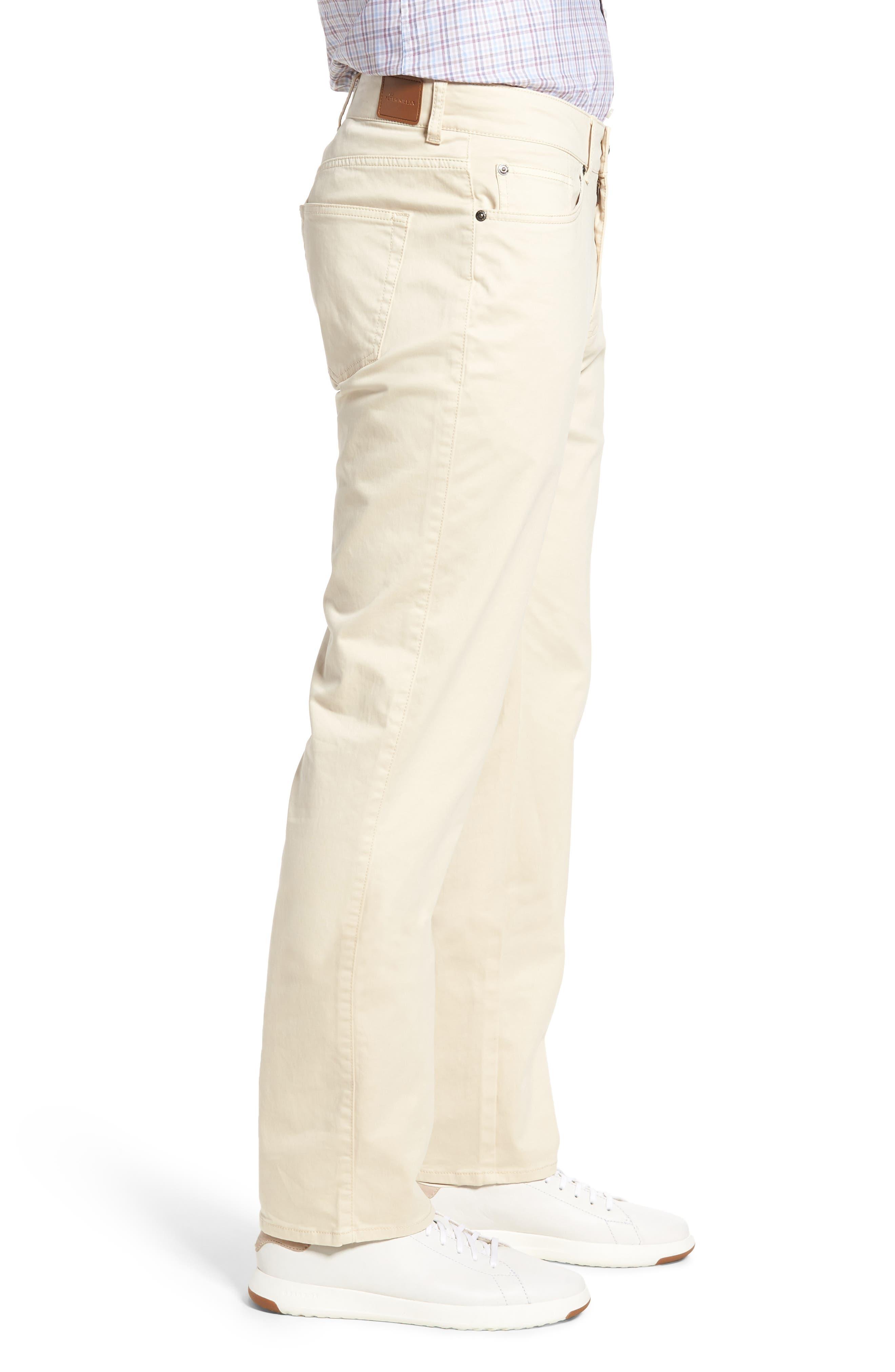 Stretch Sateen Five-Pocket Pants,                             Alternate thumbnail 3, color,                             Light Sand
