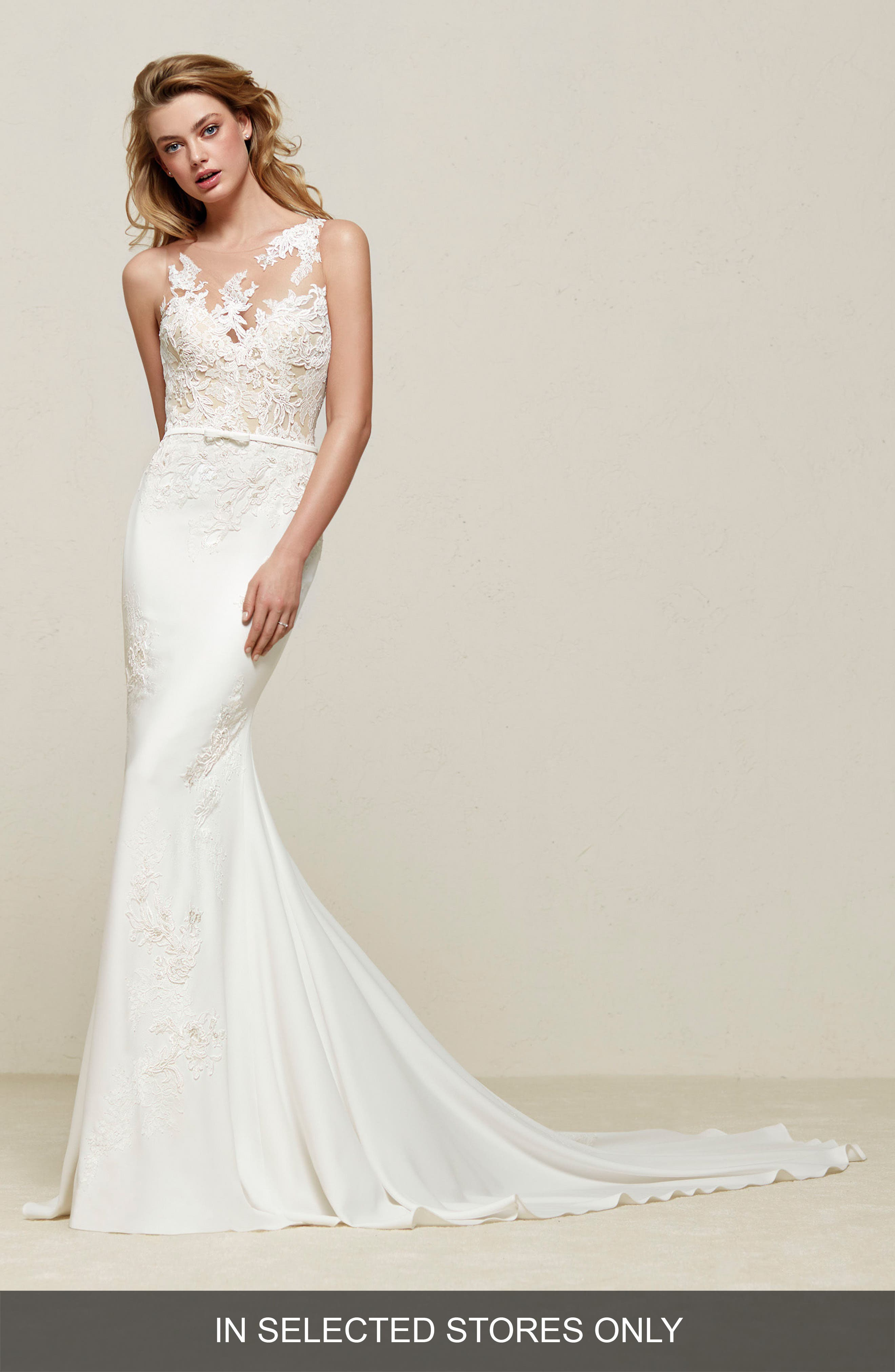 Pronovias Drenoa Lace Illusion Mermaid Gown (In Selected Stores Only)