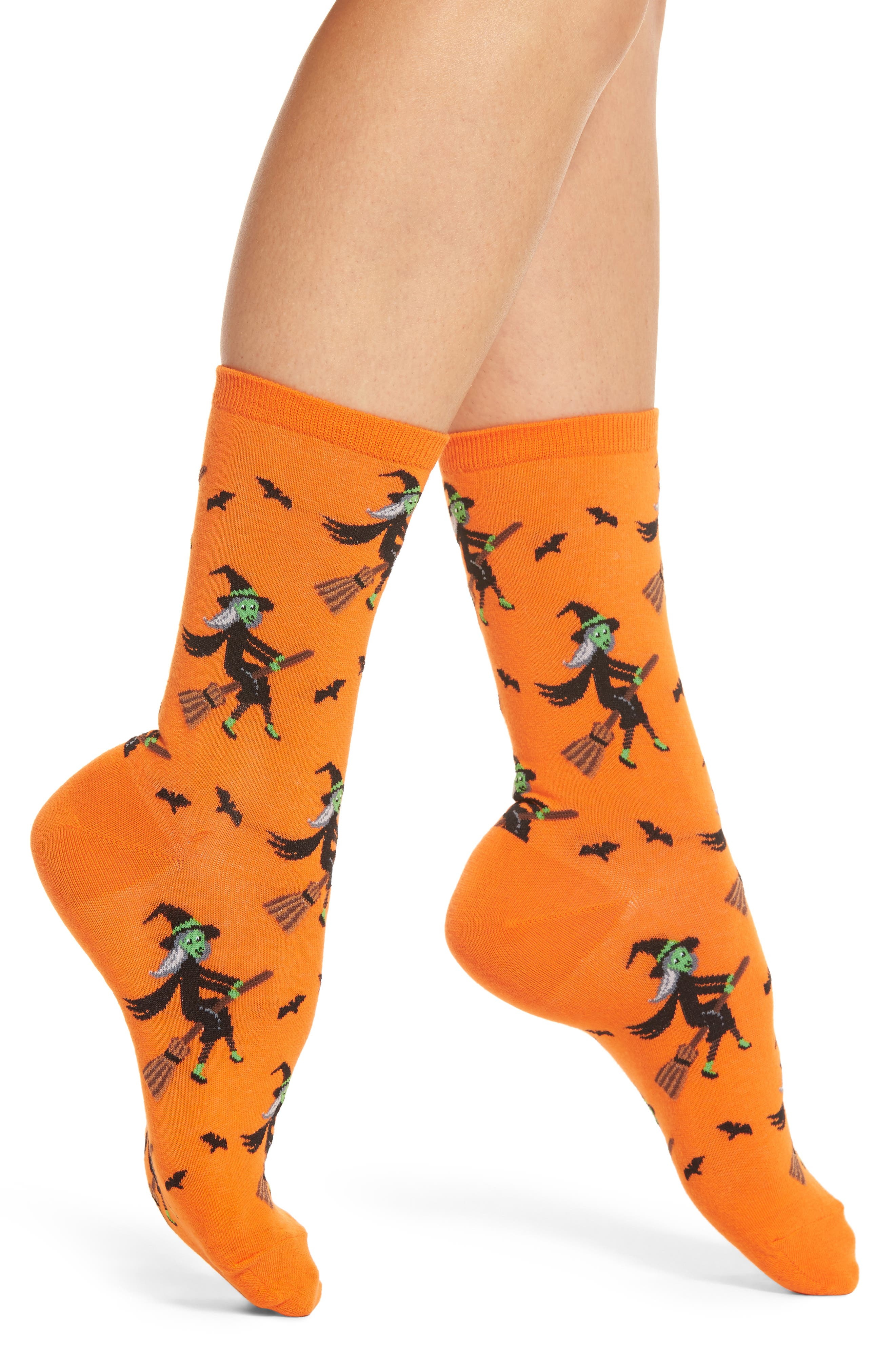 Hot Sox Witch on a Broom Socks (3 for $15)