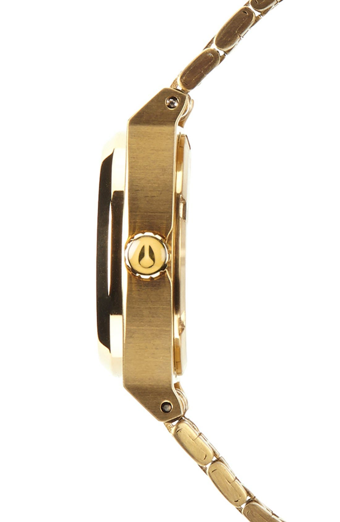'The Small Time Teller' Bracelet Watch, 26mm,                             Alternate thumbnail 3, color,                             All Gold