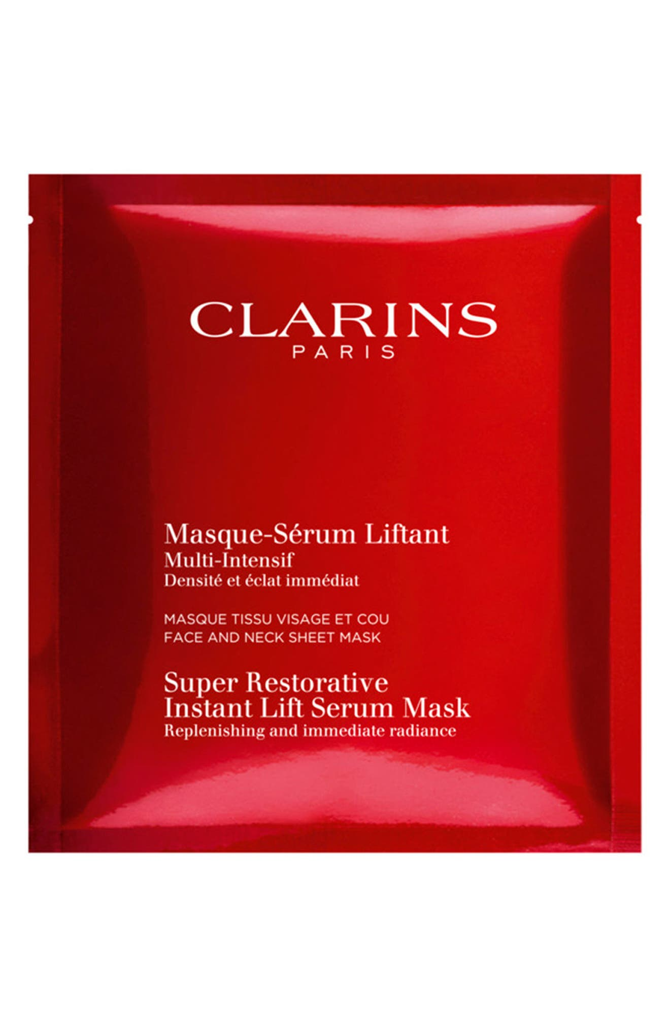 Alternate Image 1 Selected - Clarins 5-Pack Super Restorative Instant Lift Serum Mask