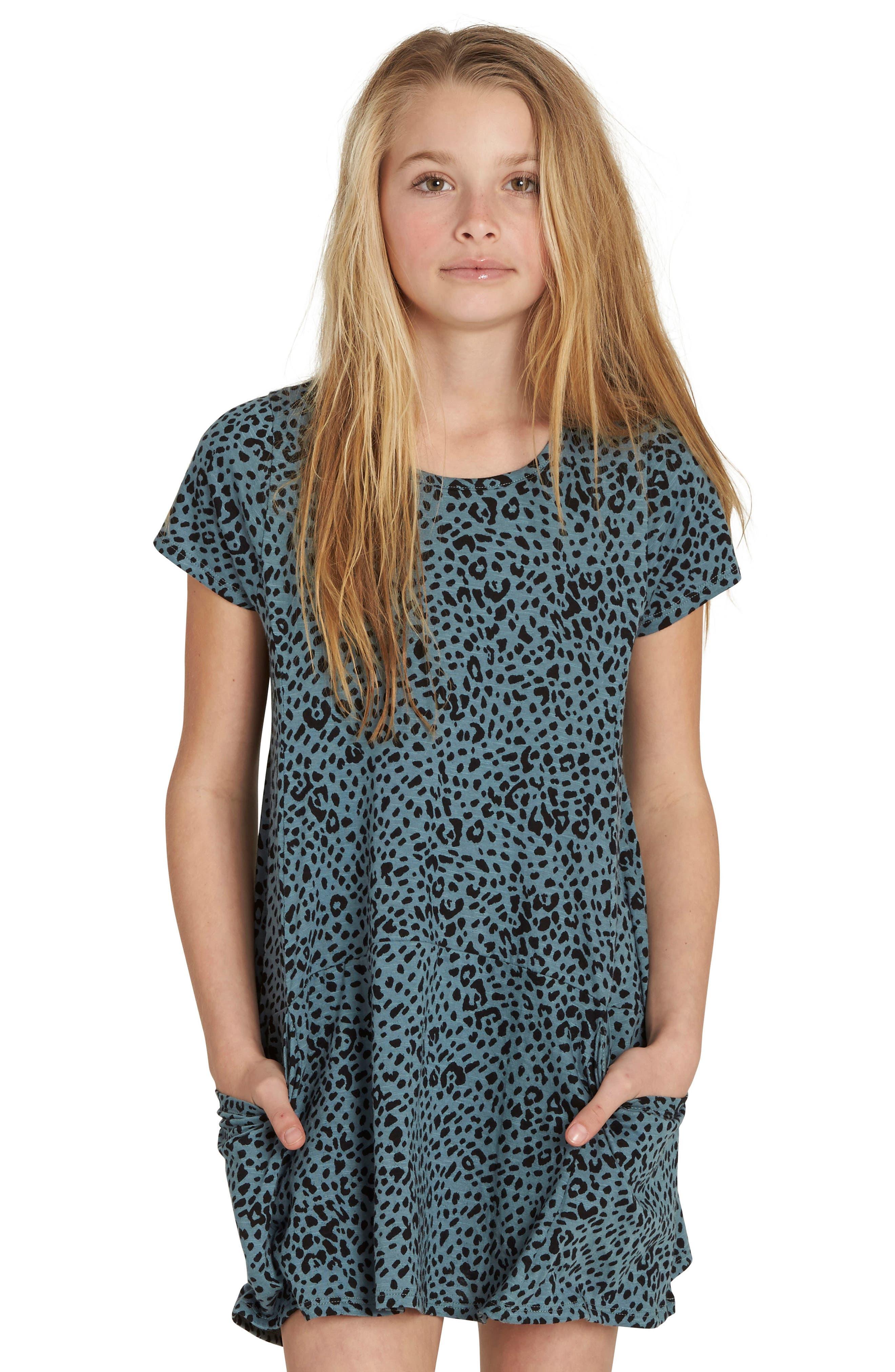 Told You T-Shirt Dress,                             Main thumbnail 1, color,                             Sugar Pine