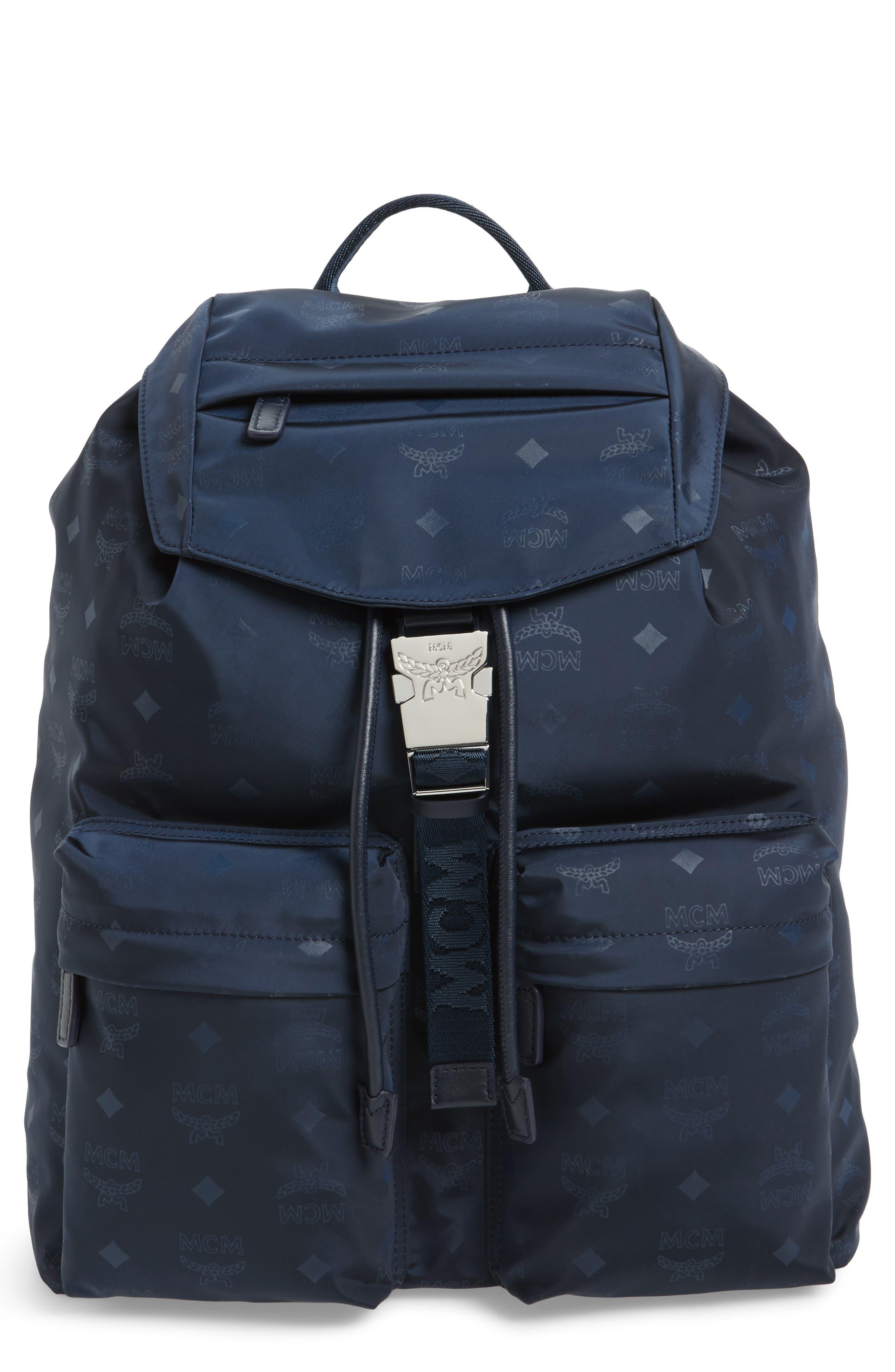 MCM Monogrammed Nylon Backpack