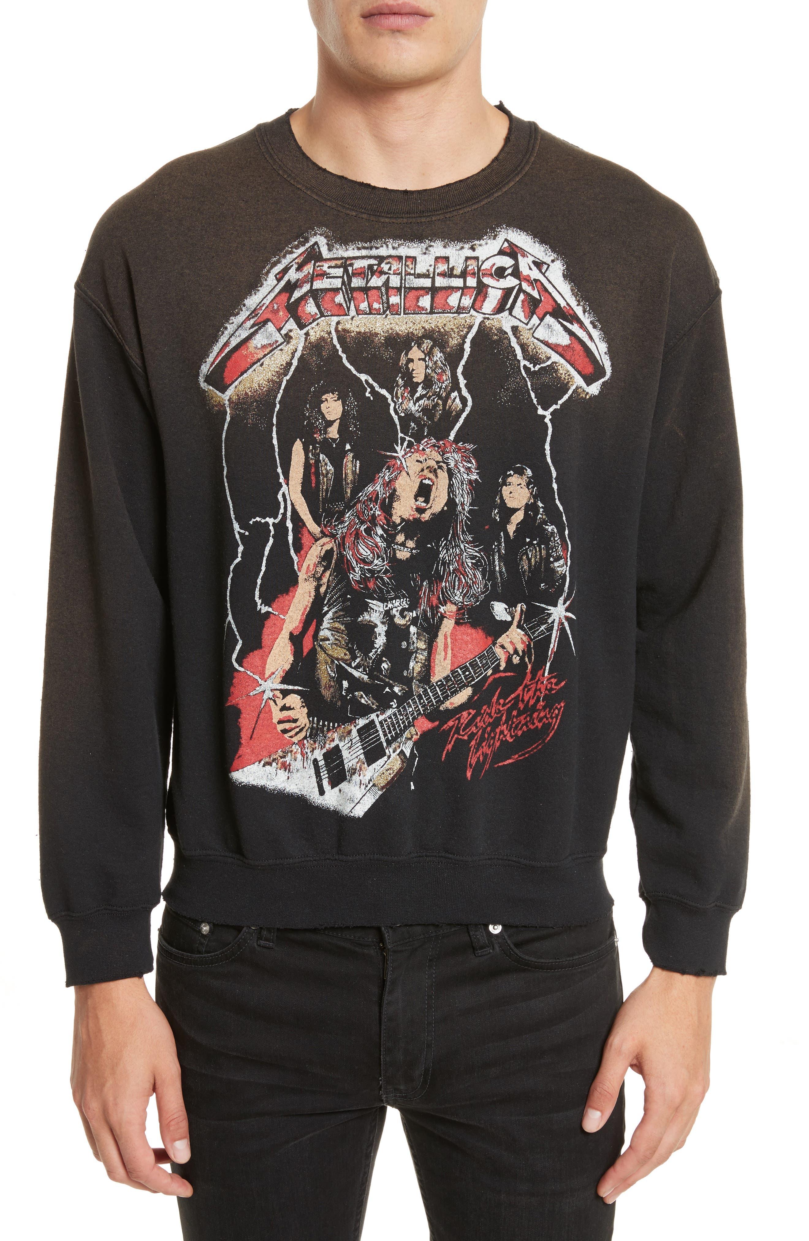 Madeworn Metallica Glitter Graphic Sweatshirt