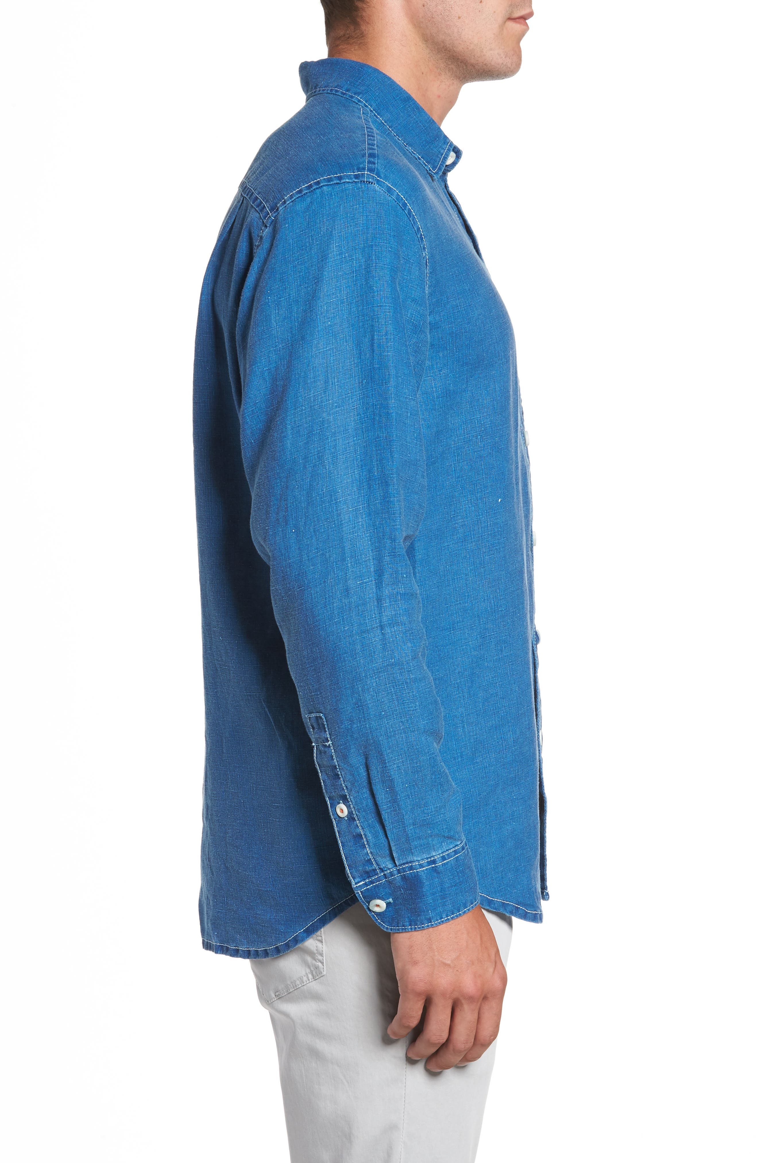 Alternate Image 3  - Tommy Bahama Sea Glass Breezer Linen Sport Shirt
