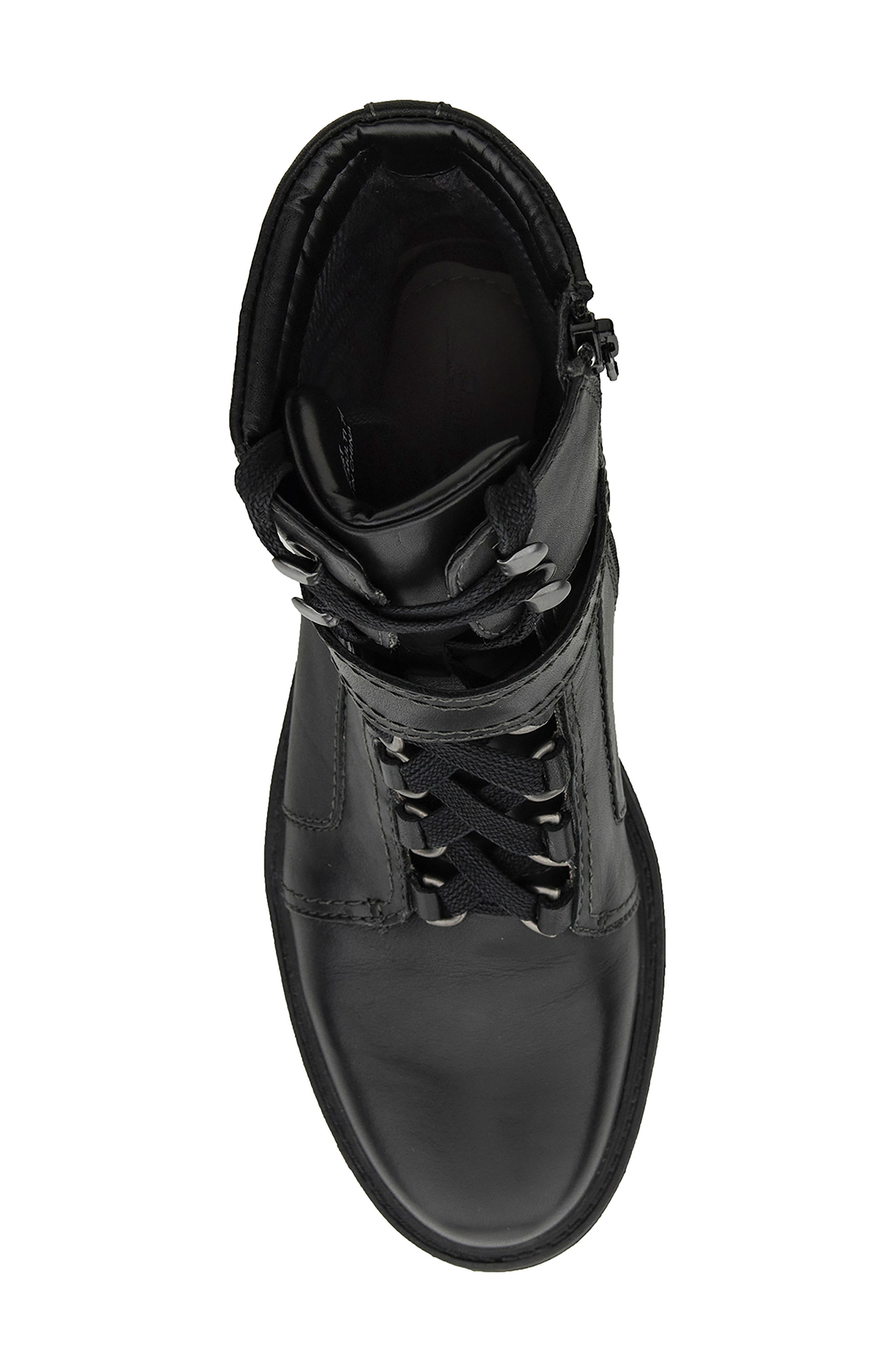 Everest Lace-Up Boot,                             Alternate thumbnail 5, color,                             Black Leather