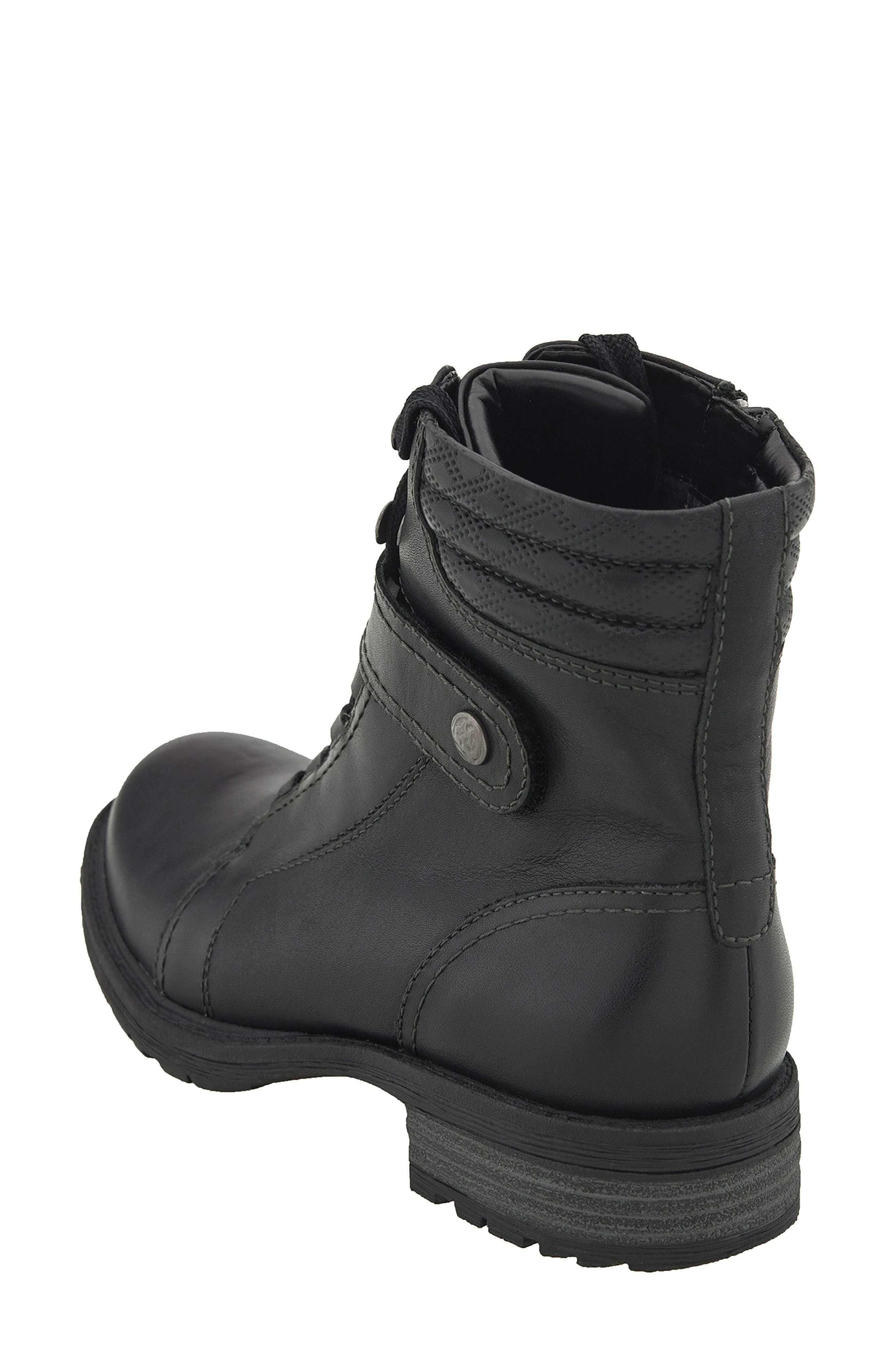 Everest Lace-Up Boot,                             Alternate thumbnail 2, color,                             Black Leather