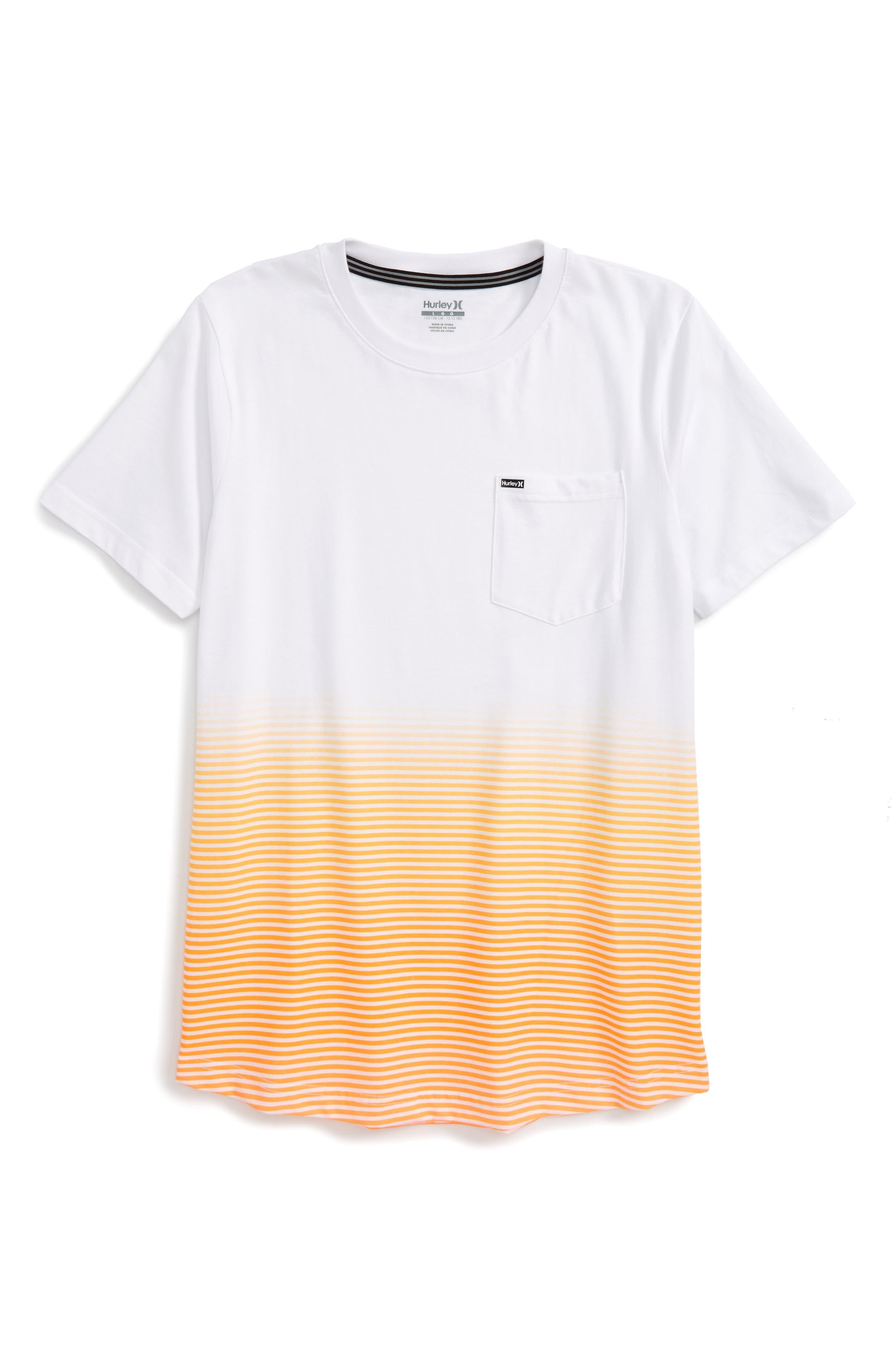 Alternate Image 1 Selected - Hurley Ombré Stripe T-Shirt (Big Boys)