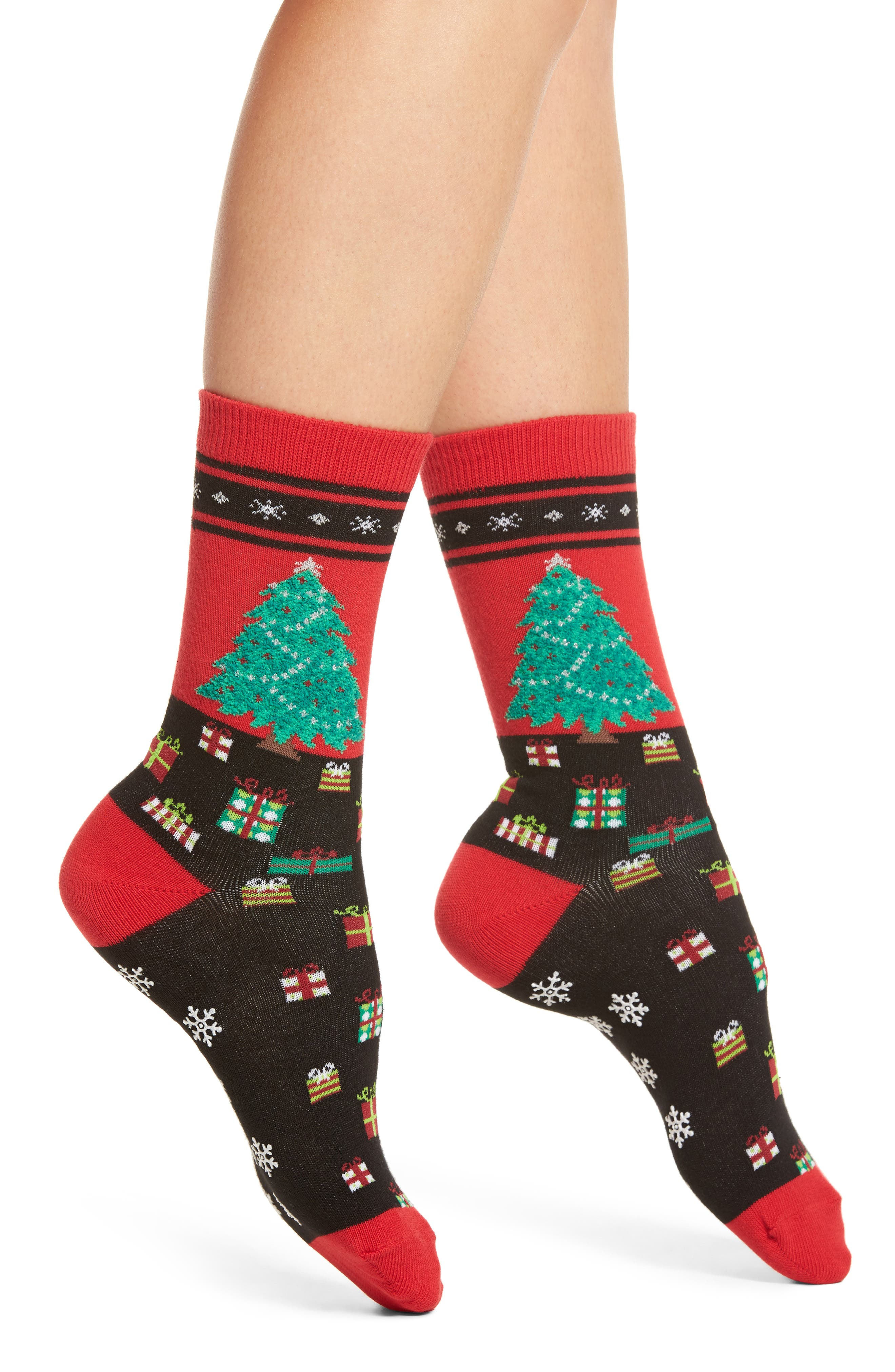 Hot Sox Christmas Tree Nonskid Socks (3 for $15)