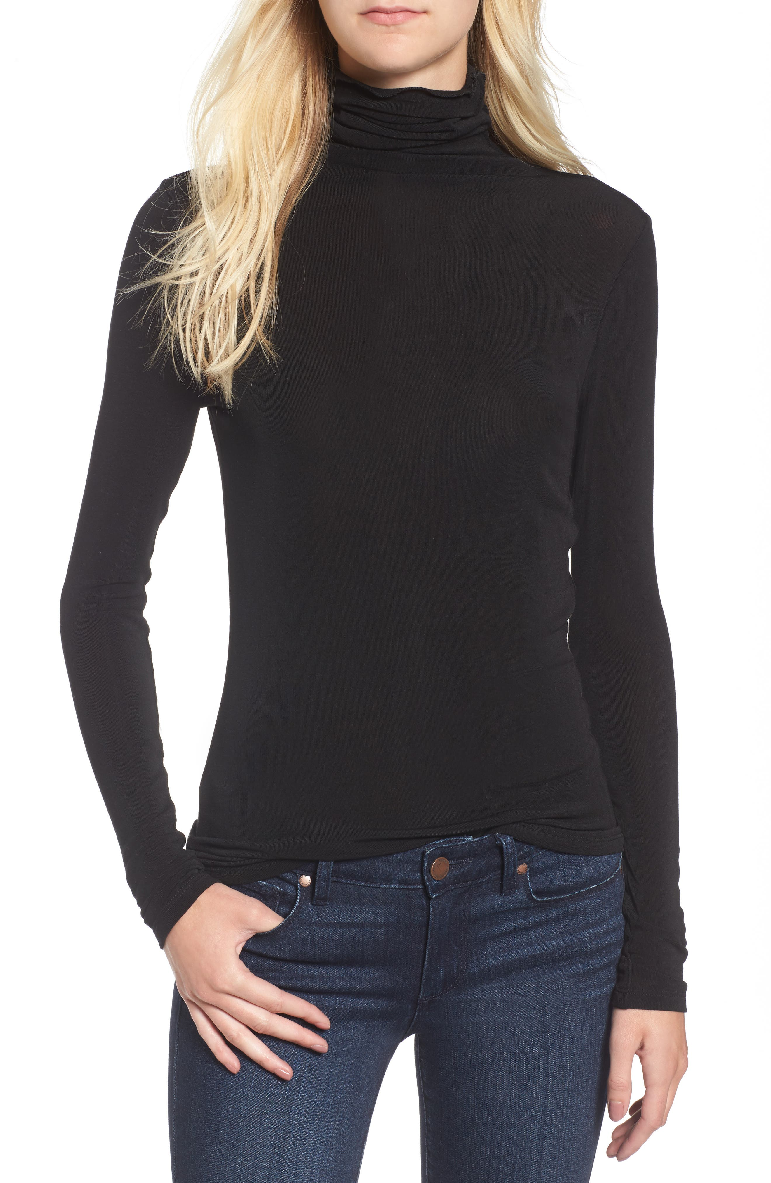 Layering Turtleneck,                             Main thumbnail 1, color,                             Black