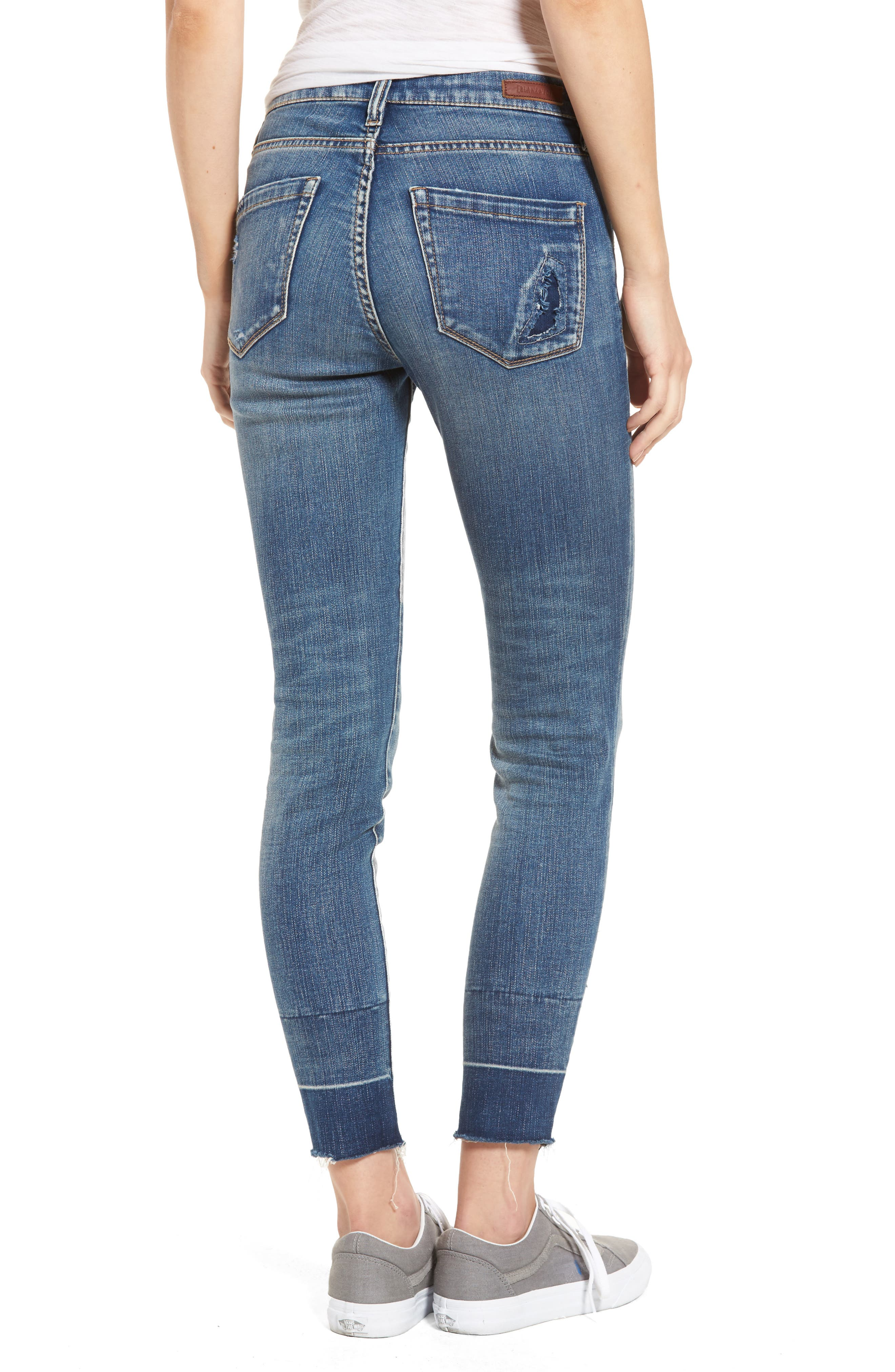 Ankle Skinny Jeans,                             Alternate thumbnail 3, color,                             Dark Wash