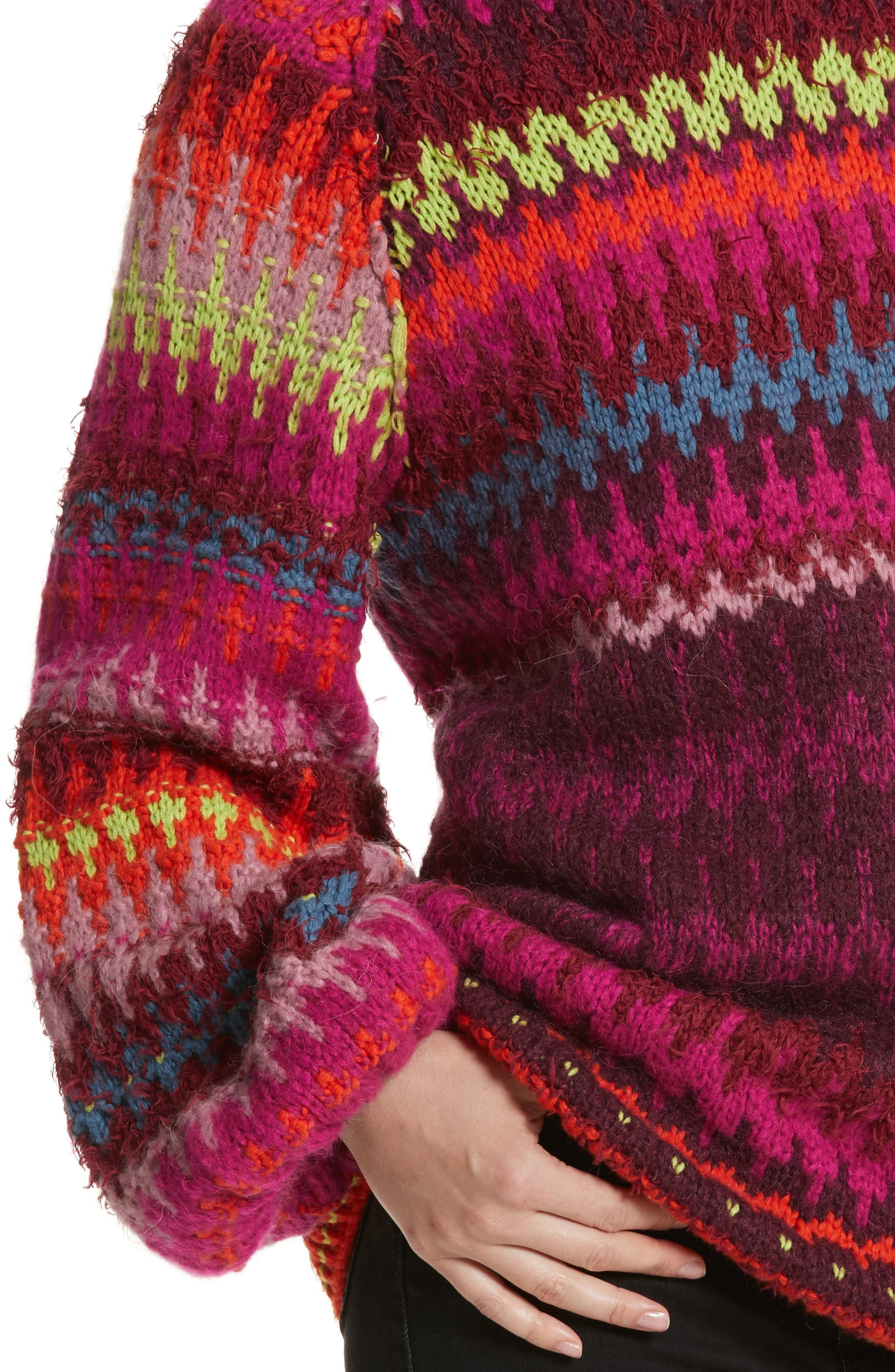 Castles in the Sky Sweater,                             Alternate thumbnail 4, color,                             Multi
