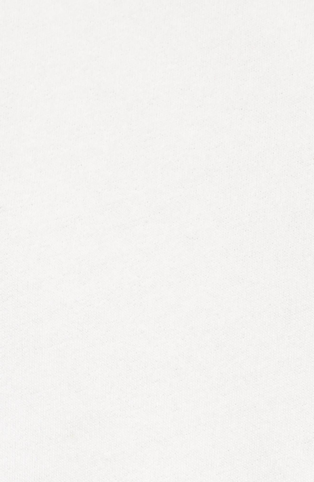 Ruched Sleeve Sweatshirt,                             Alternate thumbnail 5, color,                             Ivory Cloud