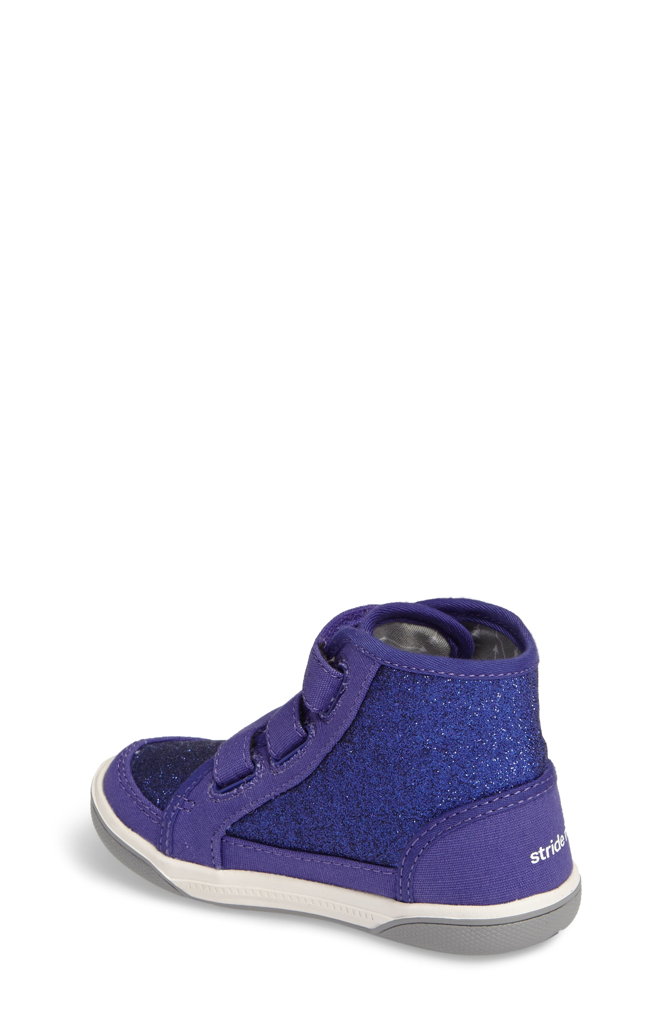 Ellis Glitter High Top Sneaker,                             Alternate thumbnail 2, color,                             Purple