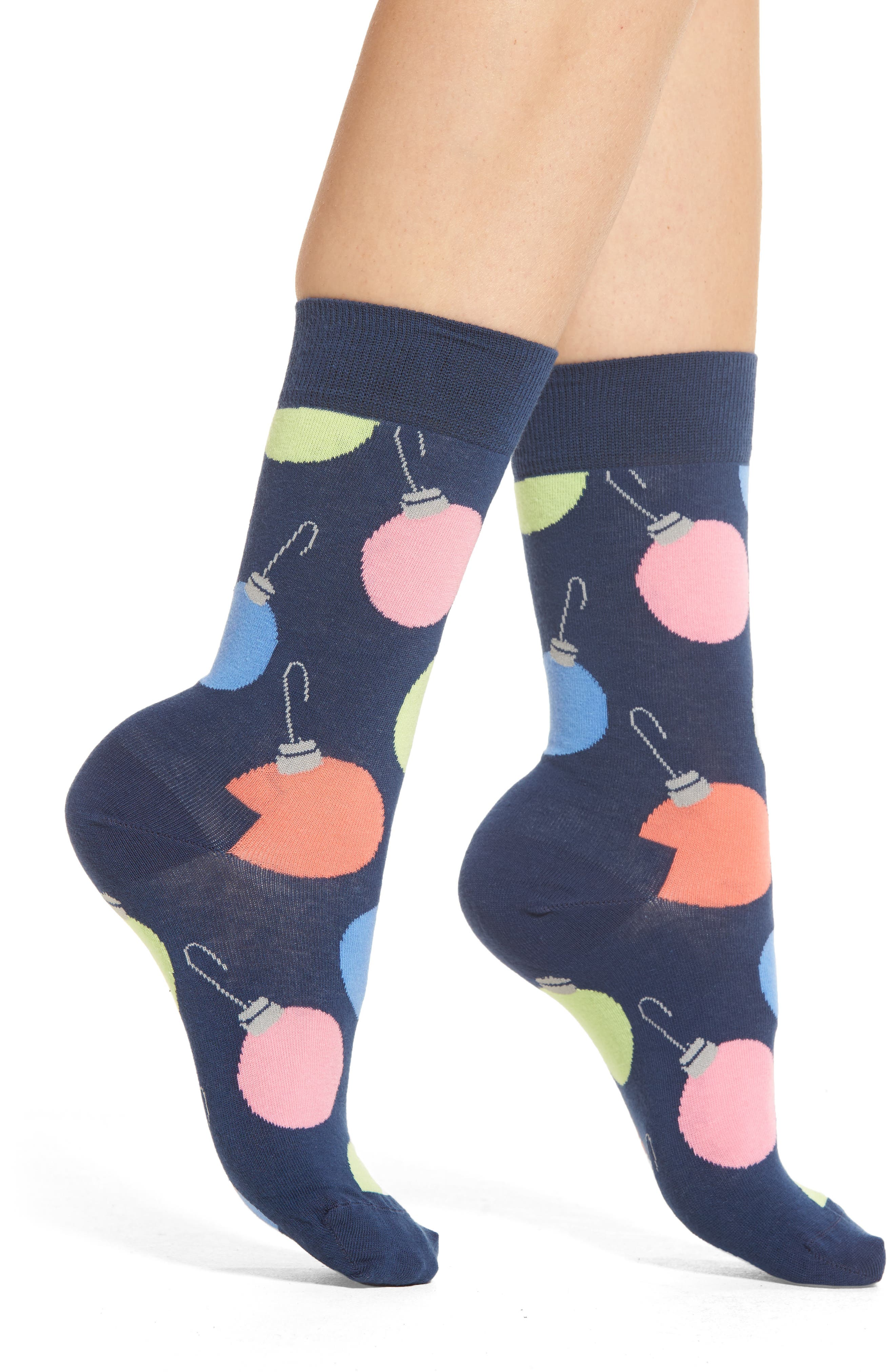 Happy Socks Tree Bulb Crew Socks (3 for $24)