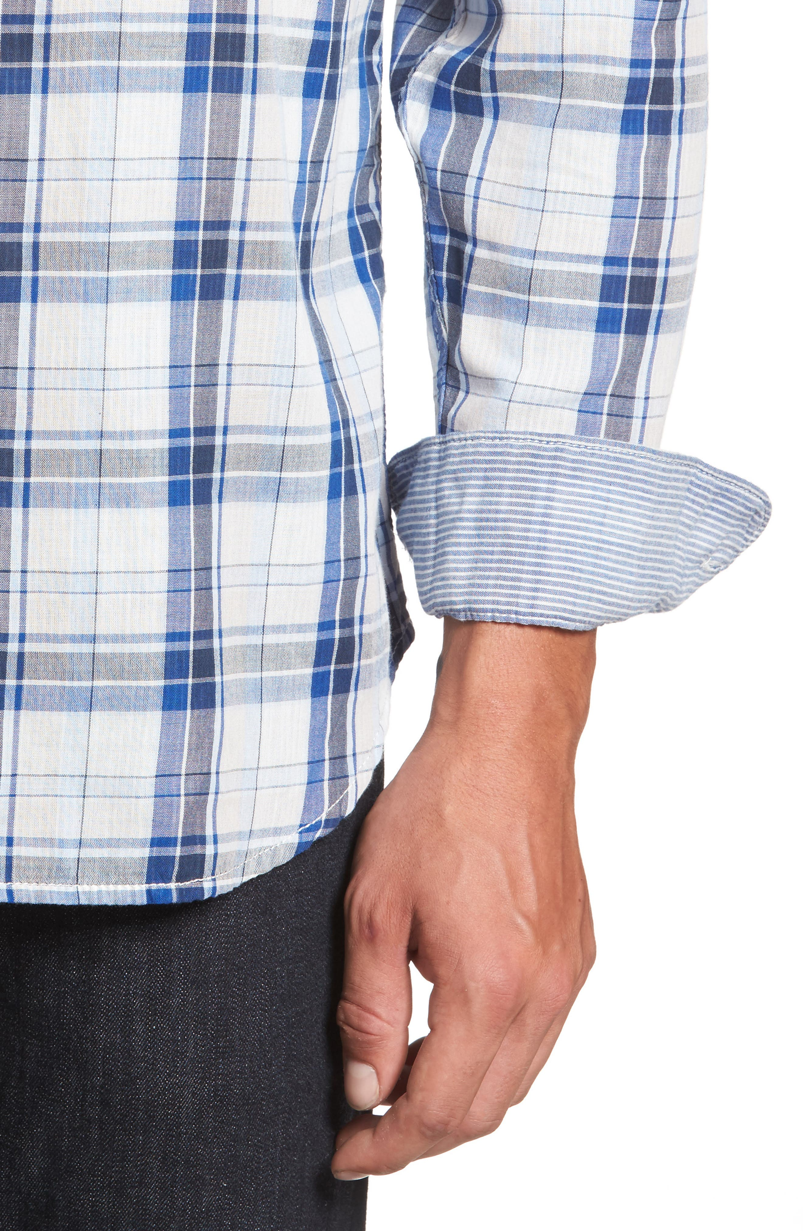 Alternate Image 4  - Tommy Bahama Aladdin Standard Fit Plaid Sport Shirt