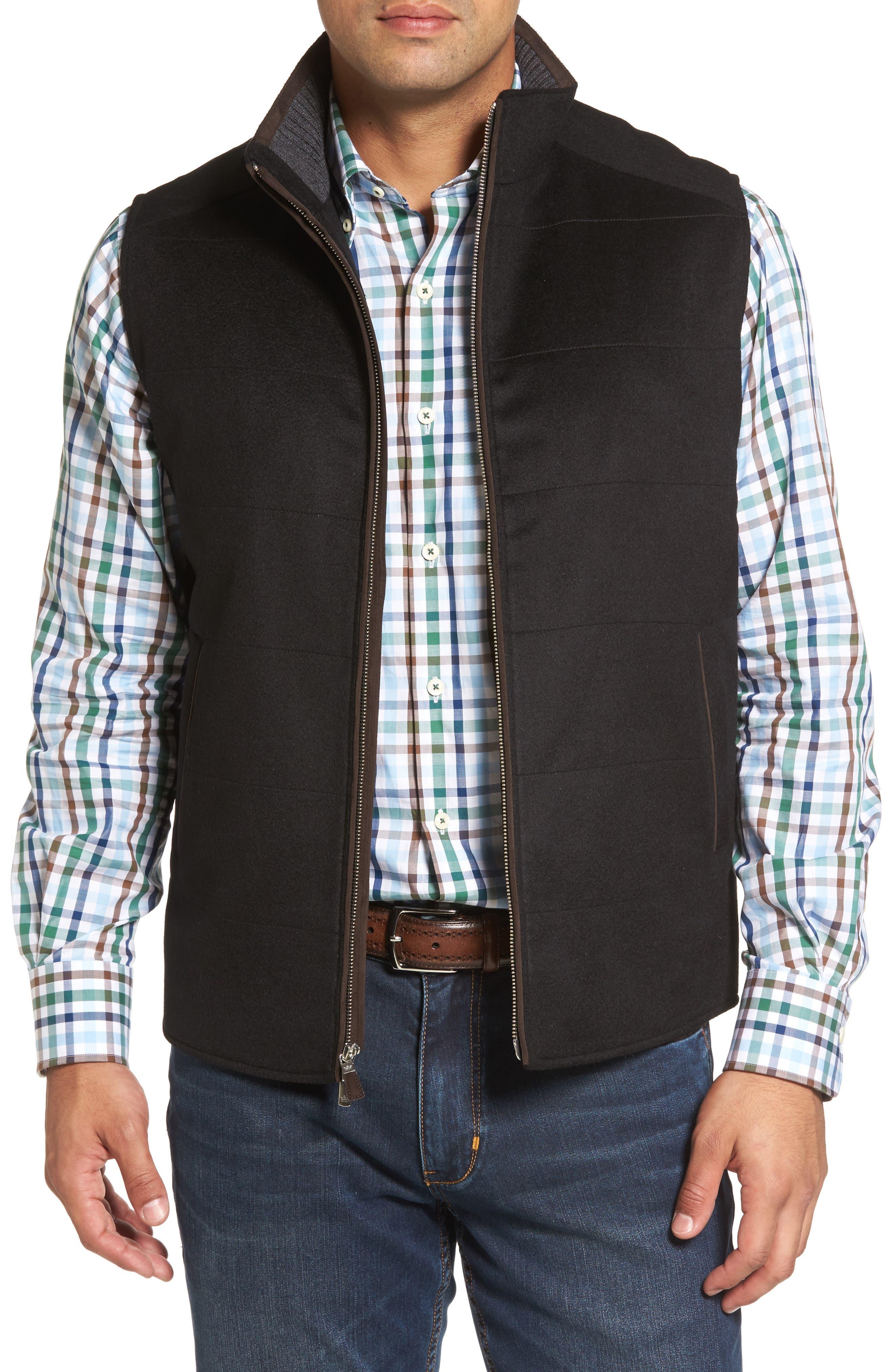 Crown Darien Wool & Cashmere Vest,                             Main thumbnail 1, color,                             Black