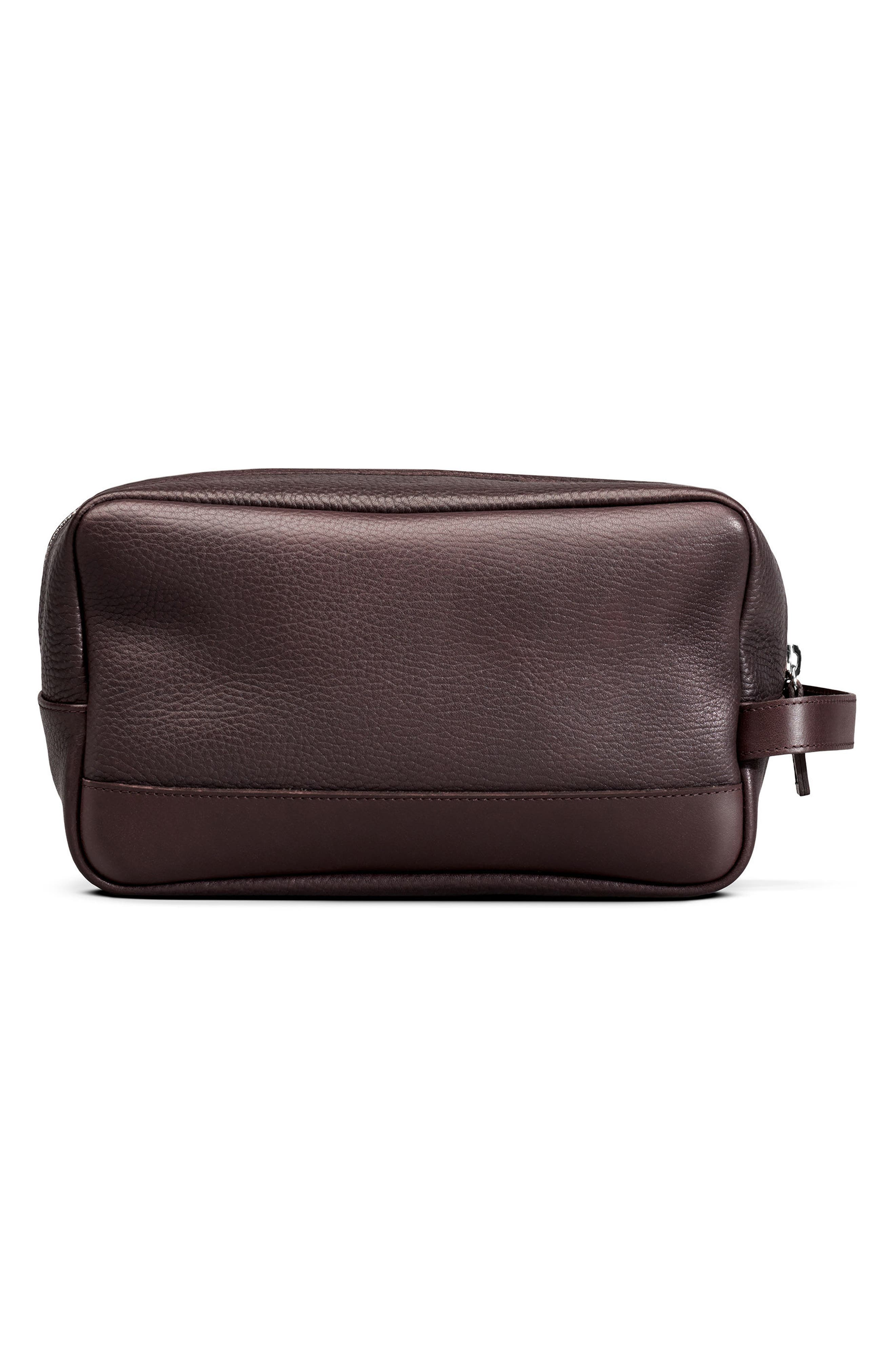Leather Travel Kit,                             Alternate thumbnail 2, color,                             Deep Brown