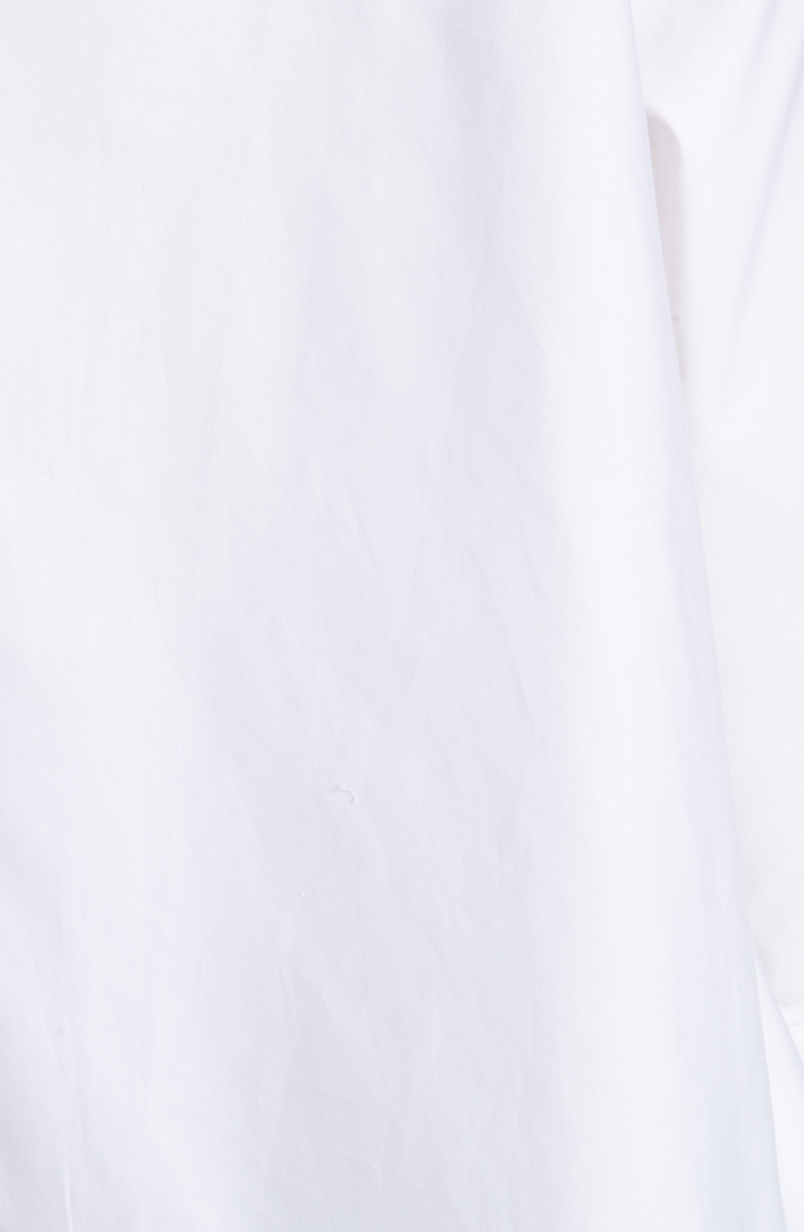 Cotton Poplin Top,                             Alternate thumbnail 5, color,                             White