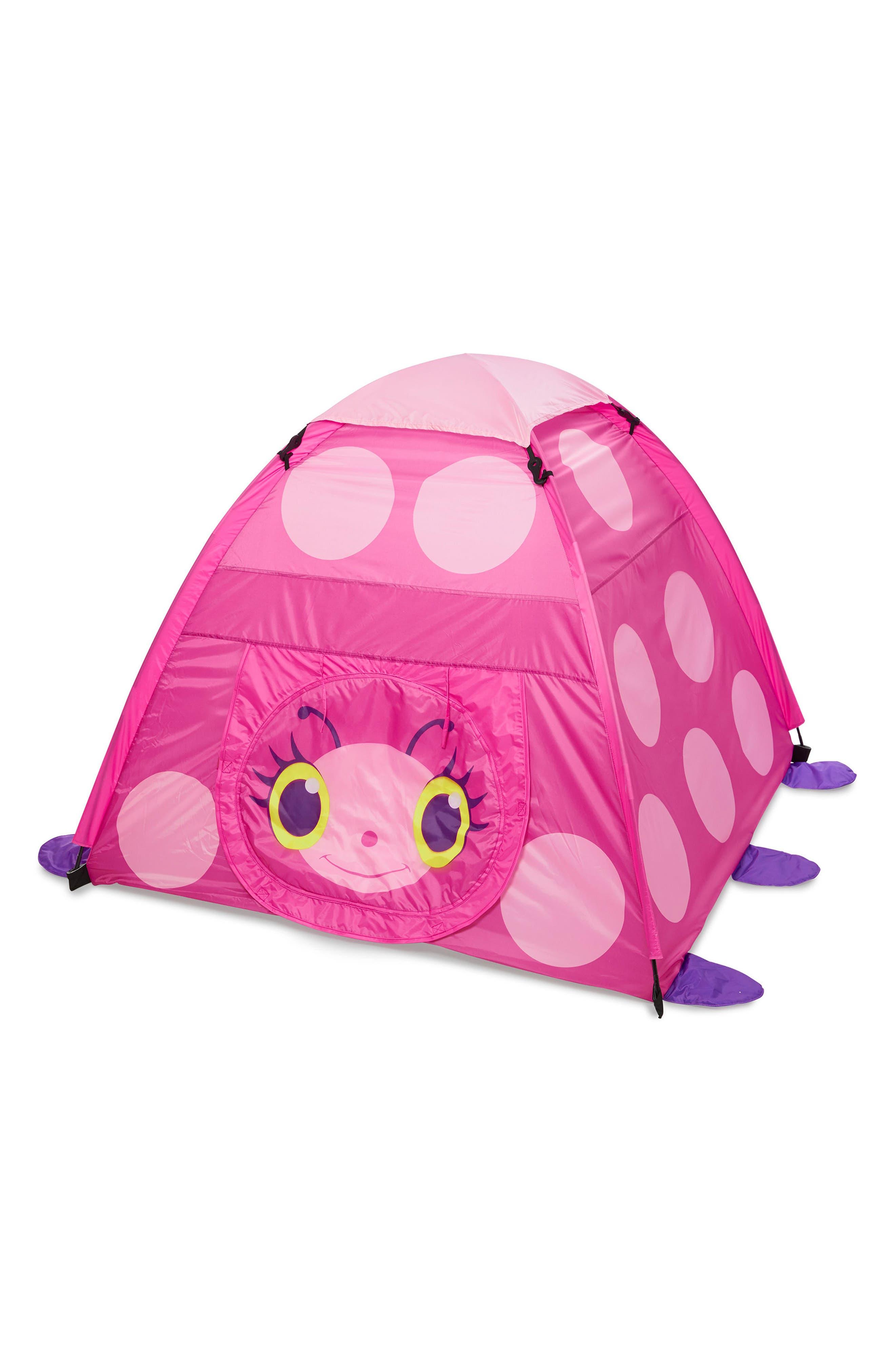 Trixie Ladybug Tent,                         Main,                         color, Pink Multi