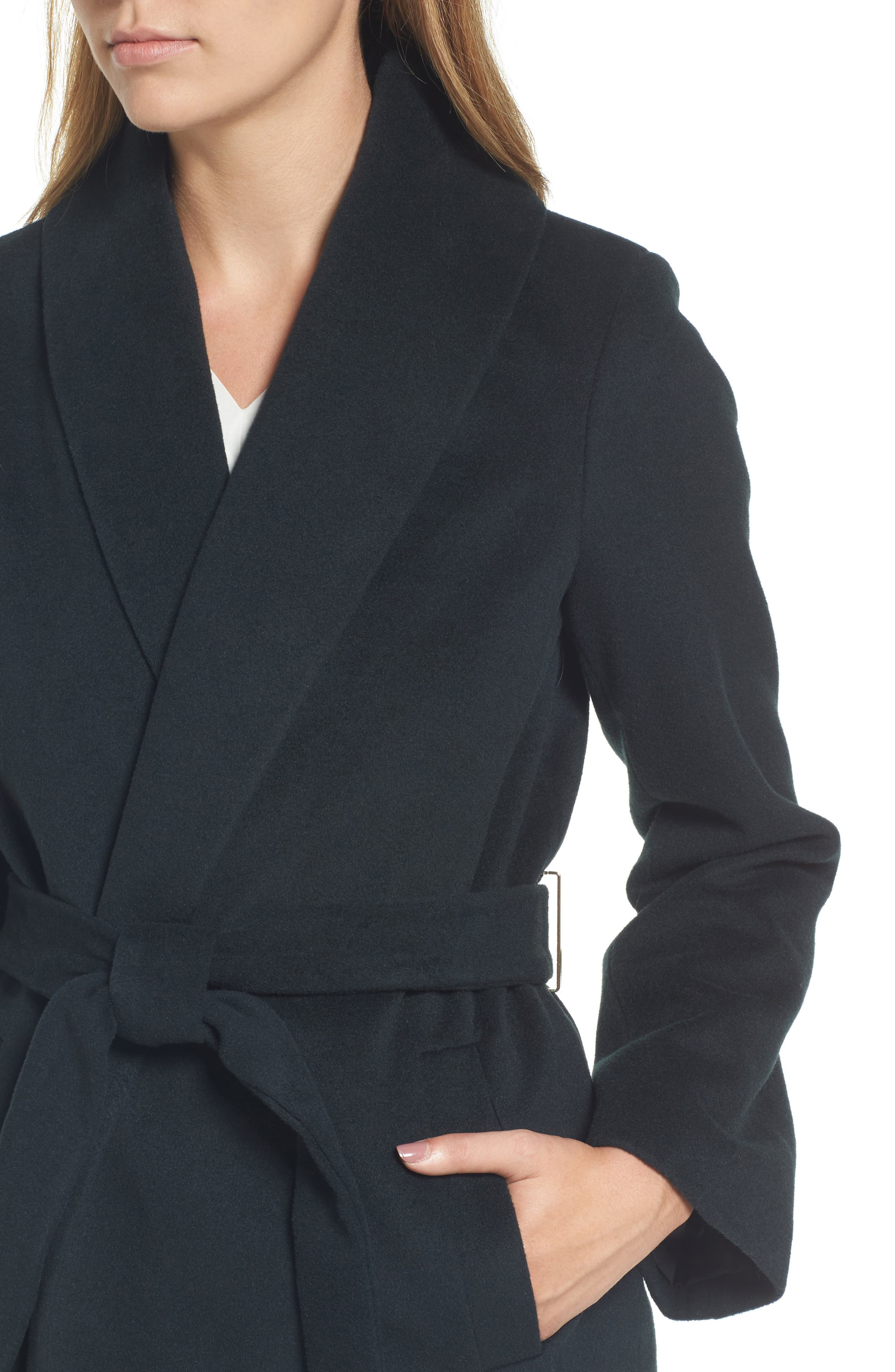 Alternate Image 4  - Tahari Gabrielle Wool Blend Long Wrap Coat