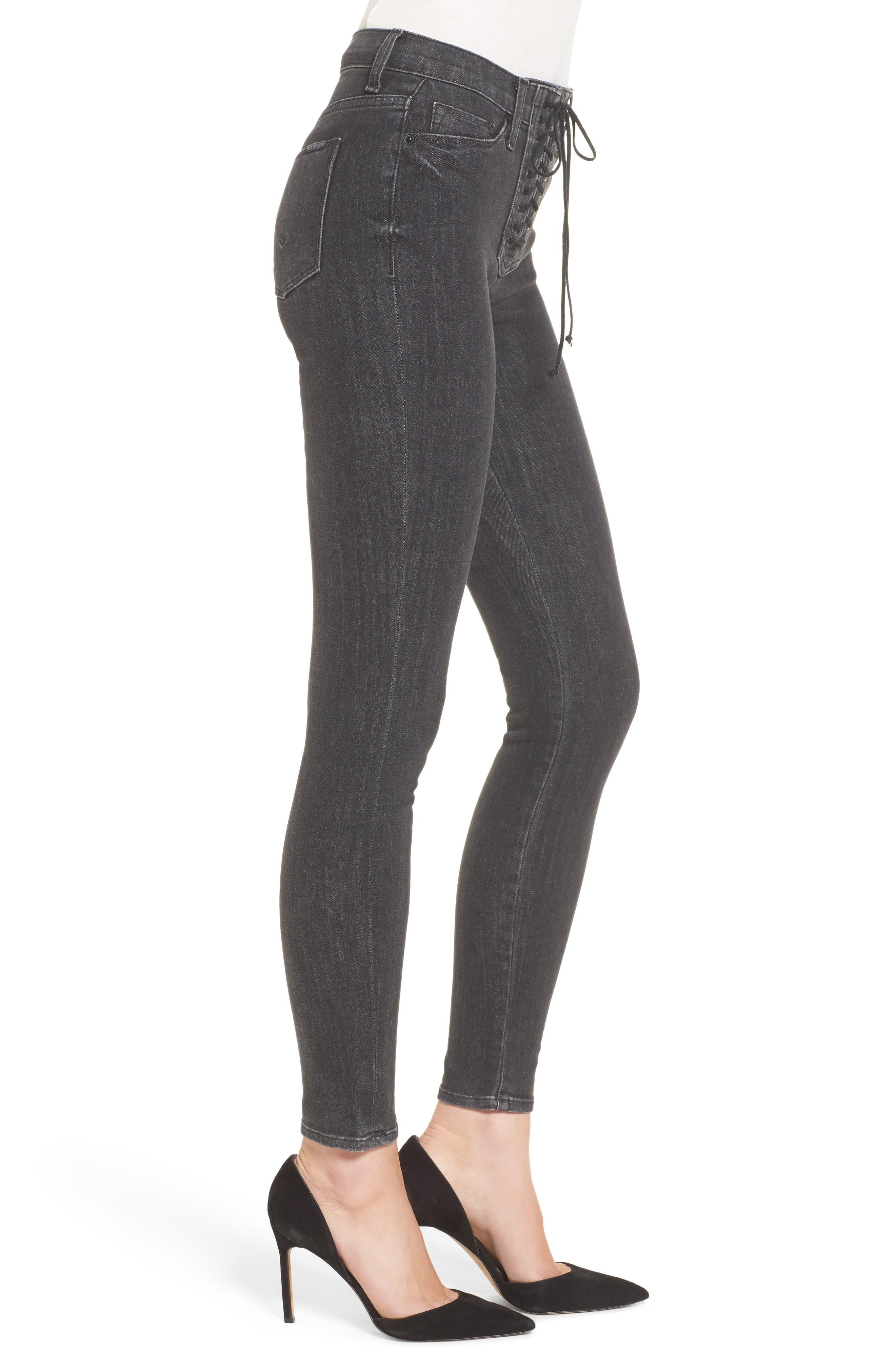 Alternate Image 3  - Hudson Jeans Bullocks High Waist Lace-Up Skinny Jeans (Disarm)