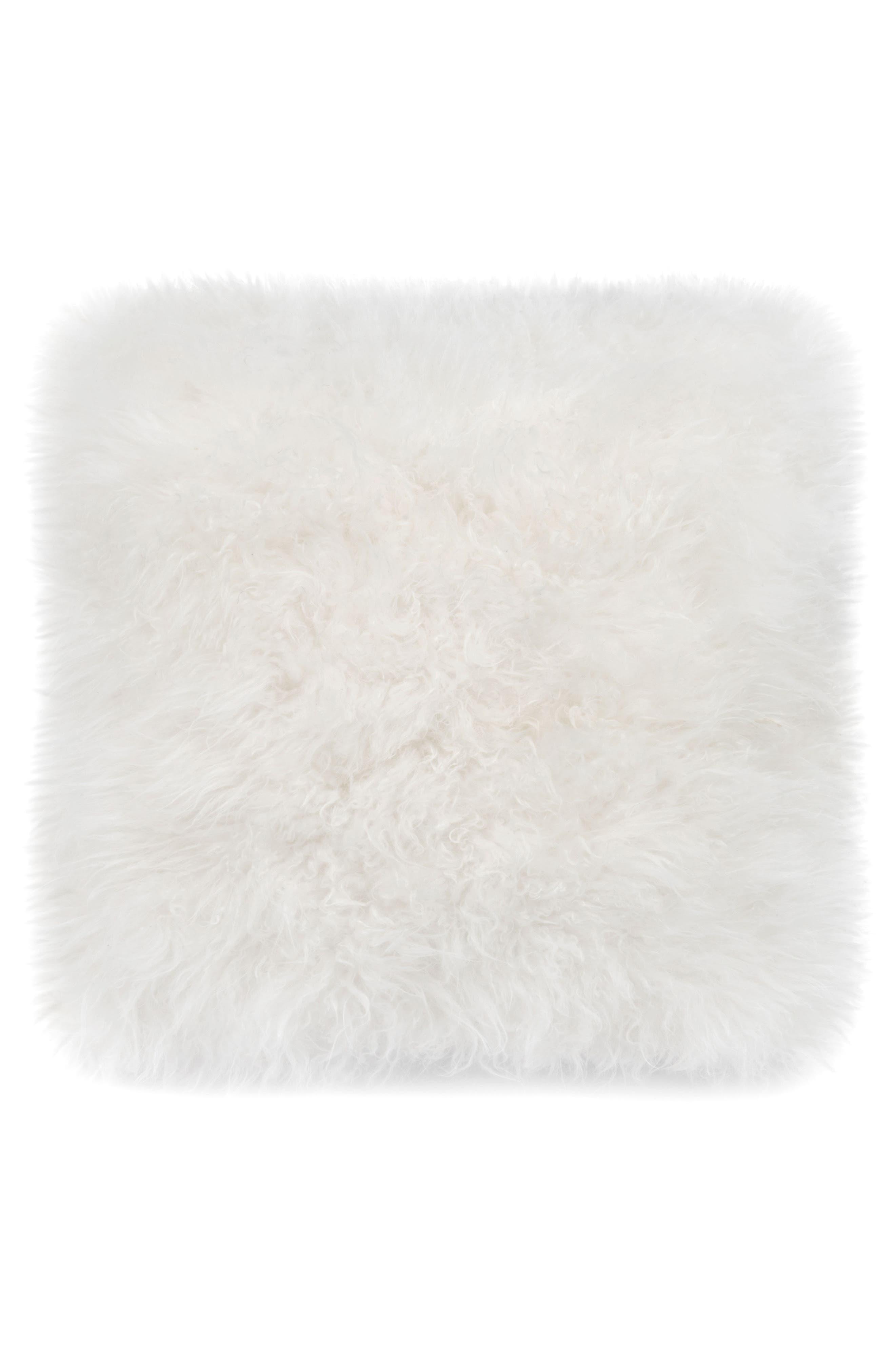 Cashmere Pillow,                             Main thumbnail 1, color,                             White