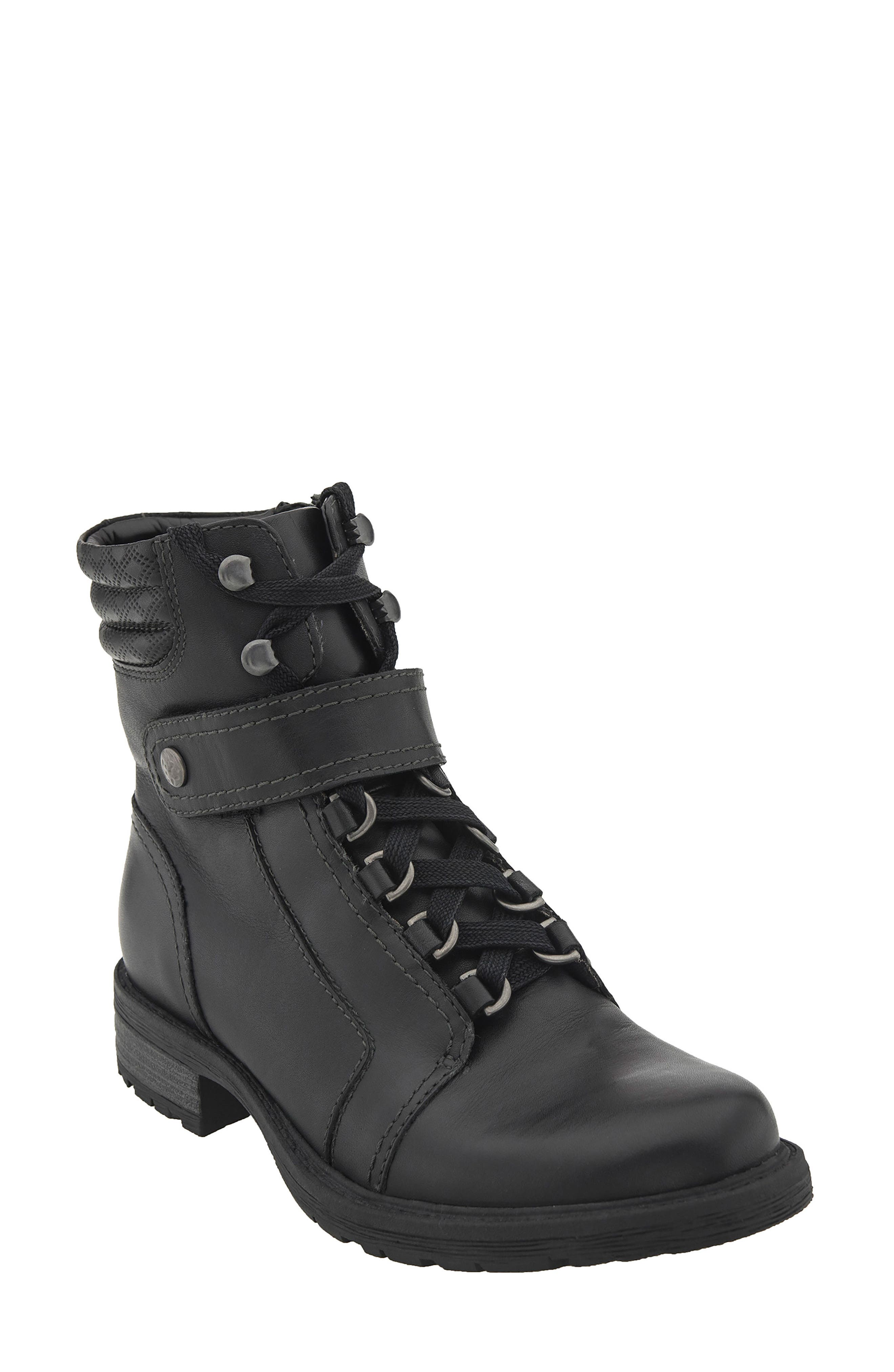 Everest Lace-Up Boot,                             Main thumbnail 1, color,                             Black Leather