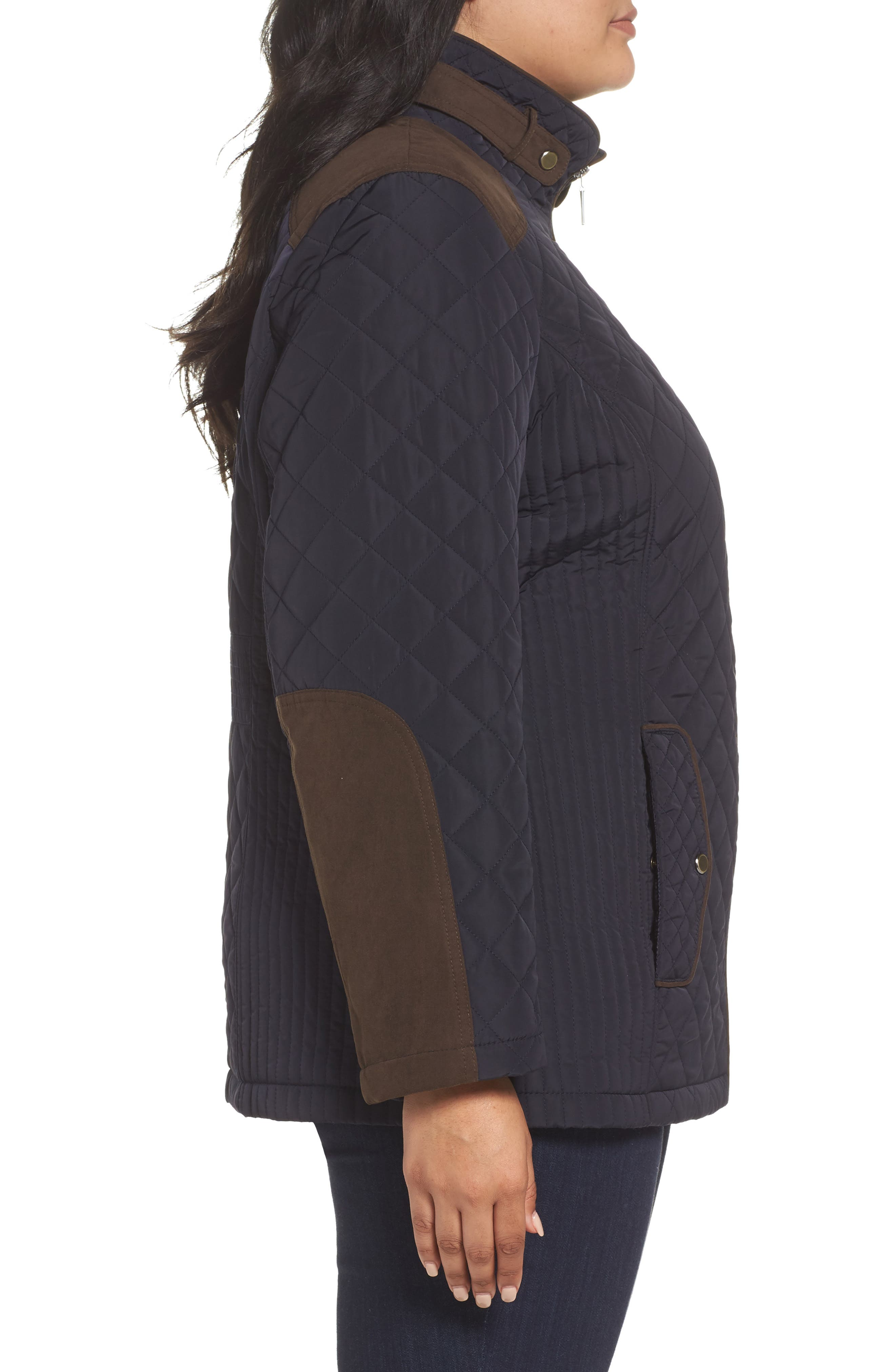 Alternate Image 3  - Gallery Insulated Jacket (Plus Size)