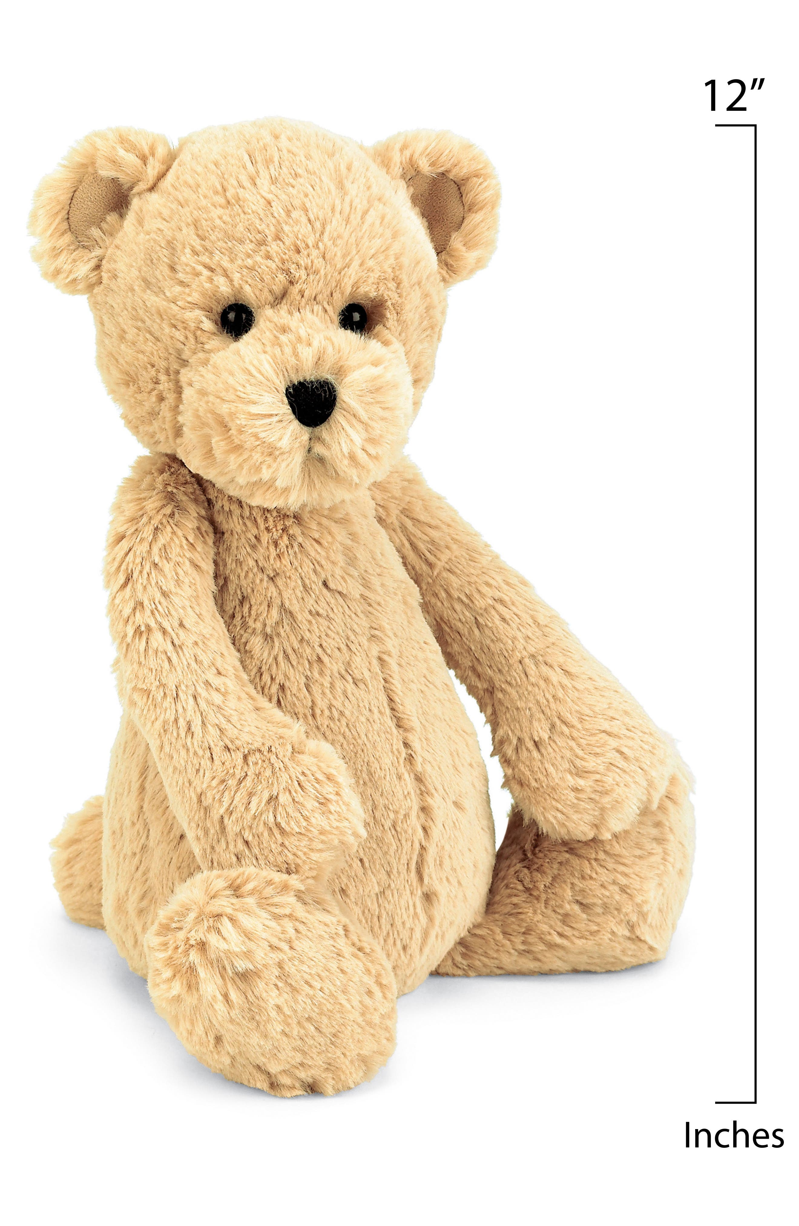 'Bashful Honey Bear' Stuffed Animal,                             Alternate thumbnail 2, color,                             Tan