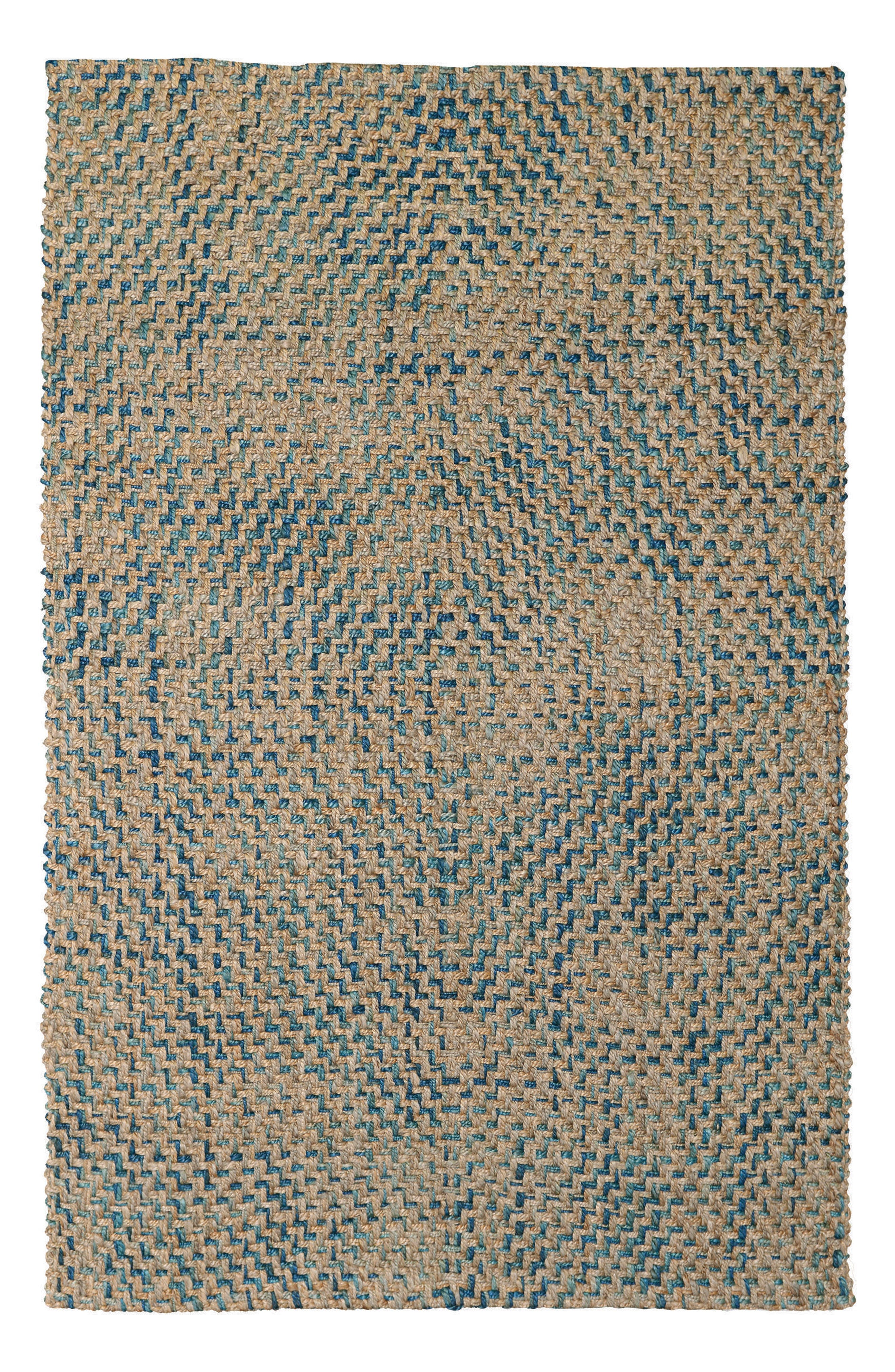 Ladera Handwoven Rug,                         Main,                         color, Navy/ Turquoise