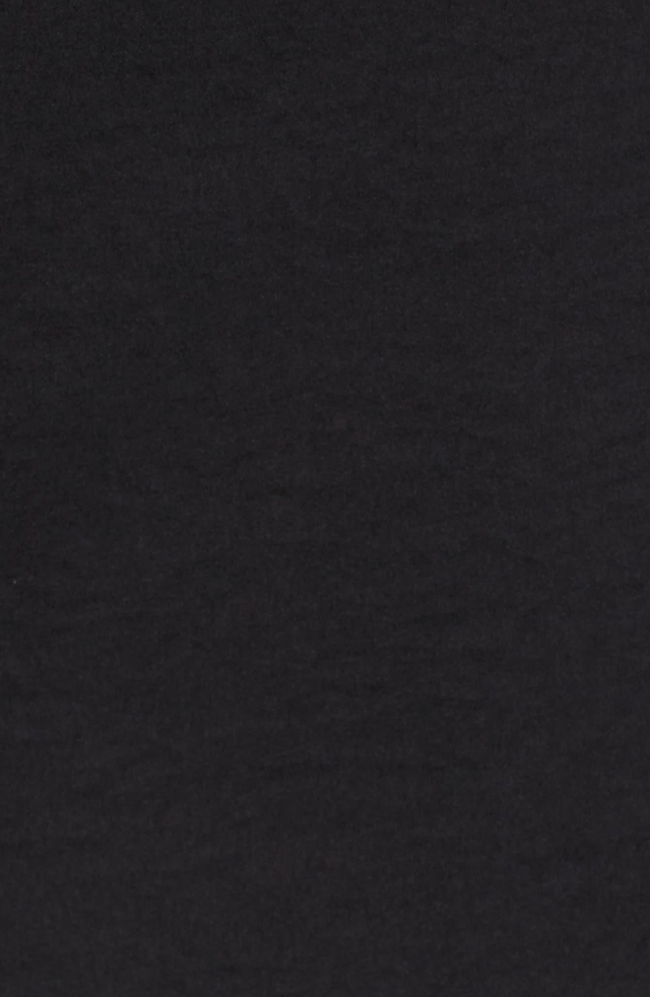 Satin Bell Sleeve Top,                             Alternate thumbnail 5, color,                             Black