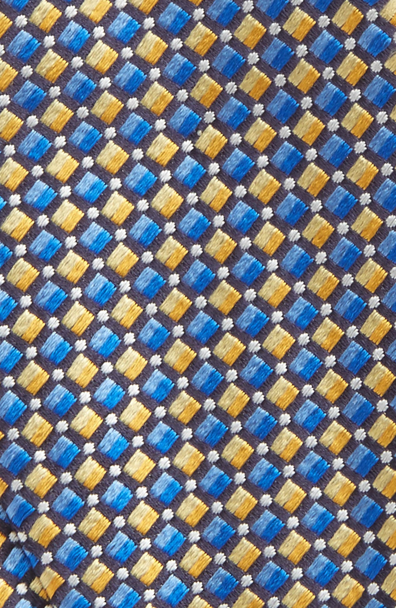 Geometric Silk Bow Tie,                             Alternate thumbnail 3, color,                             Yellow