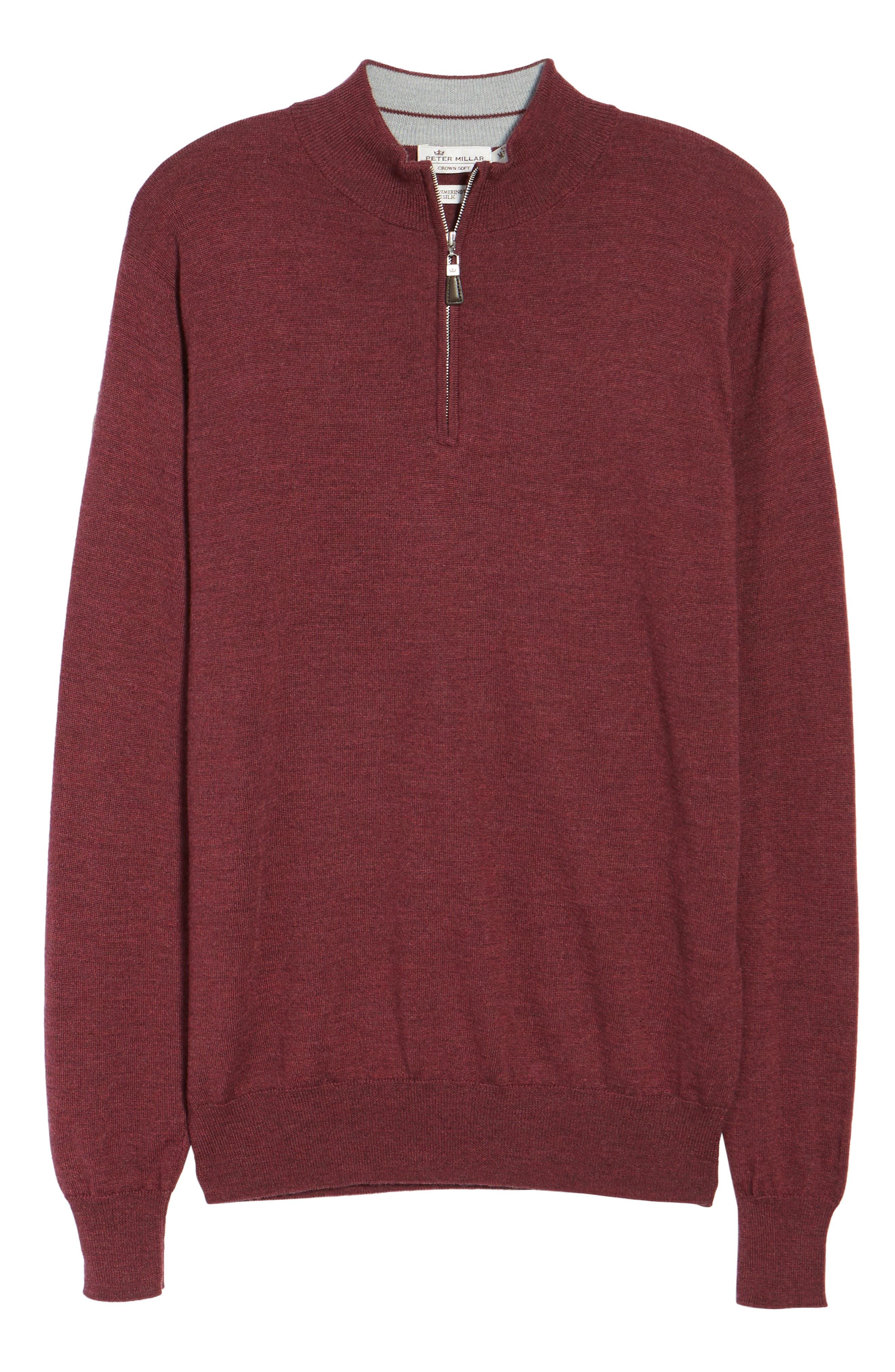 Alternate Image 5  - Peter Millar Crown Soft Merino Blend Quarter Zip Sweater