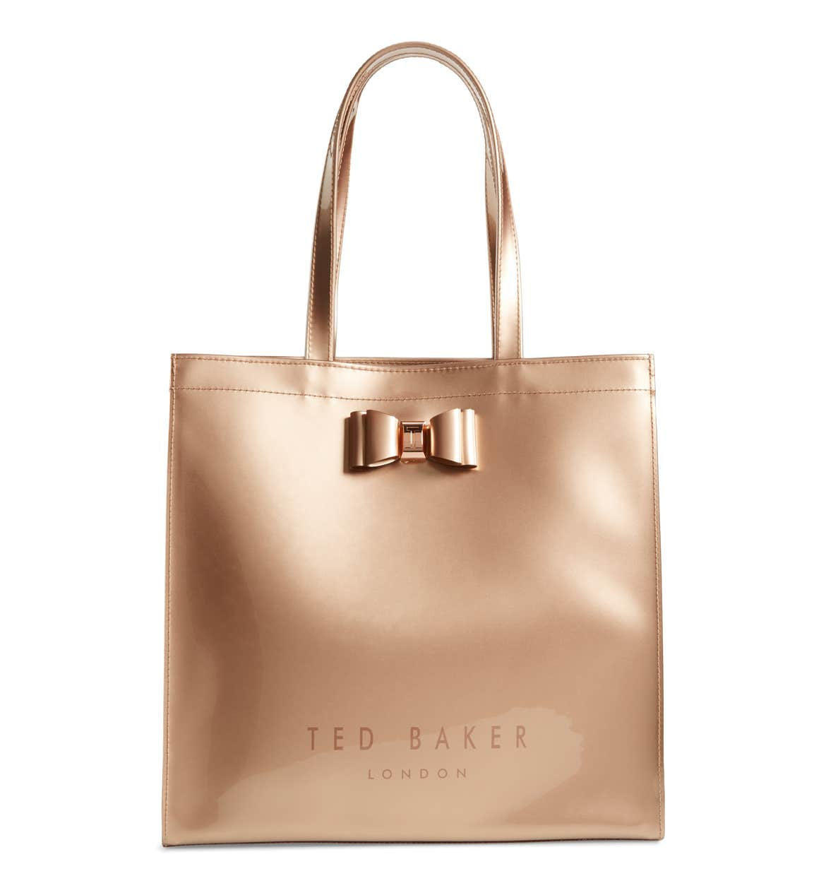 Love this gold bow tote