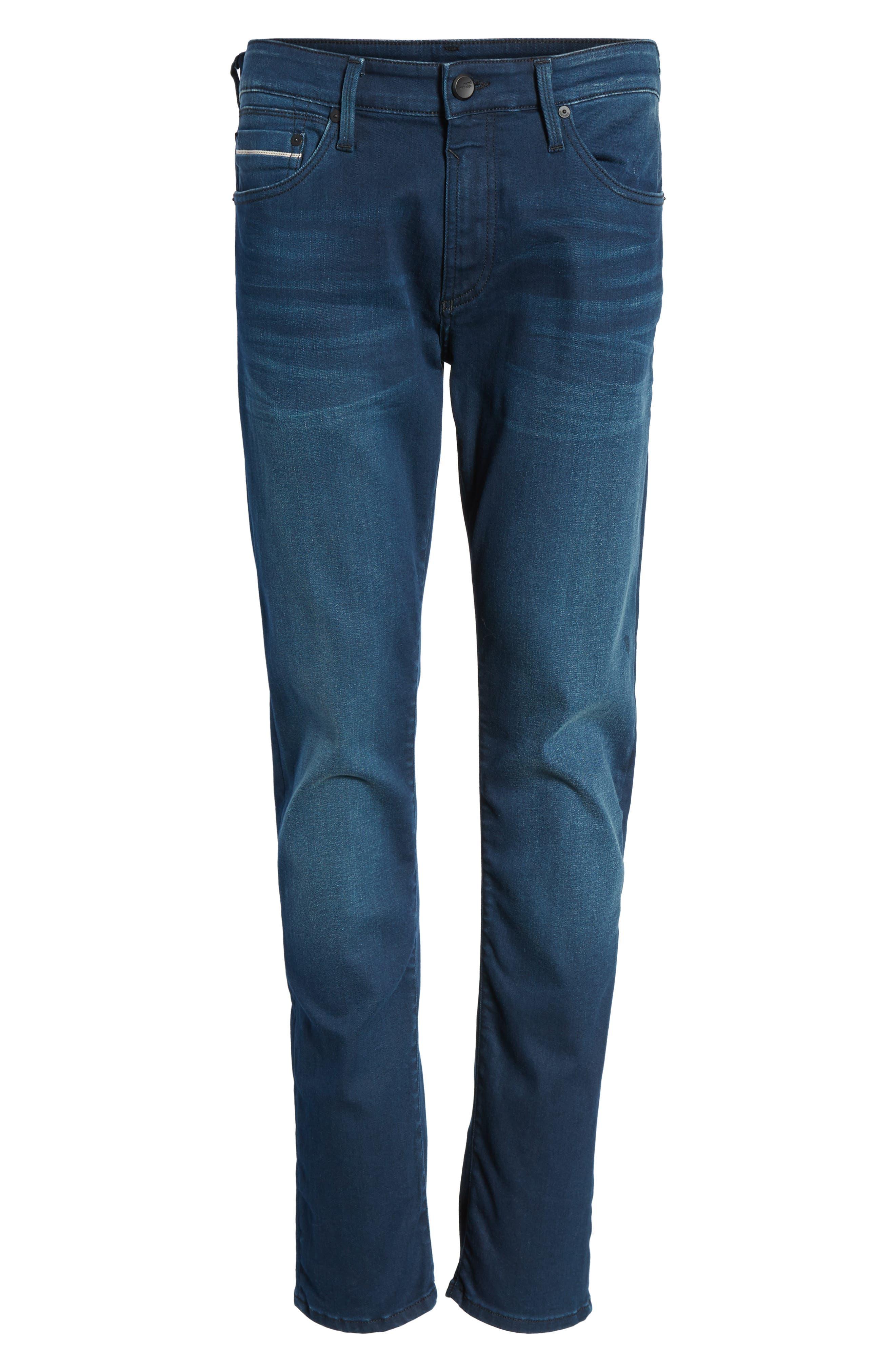 Jake Slim Fit Jeans,                             Alternate thumbnail 6, color,                             Ink Brushed Williamsburg