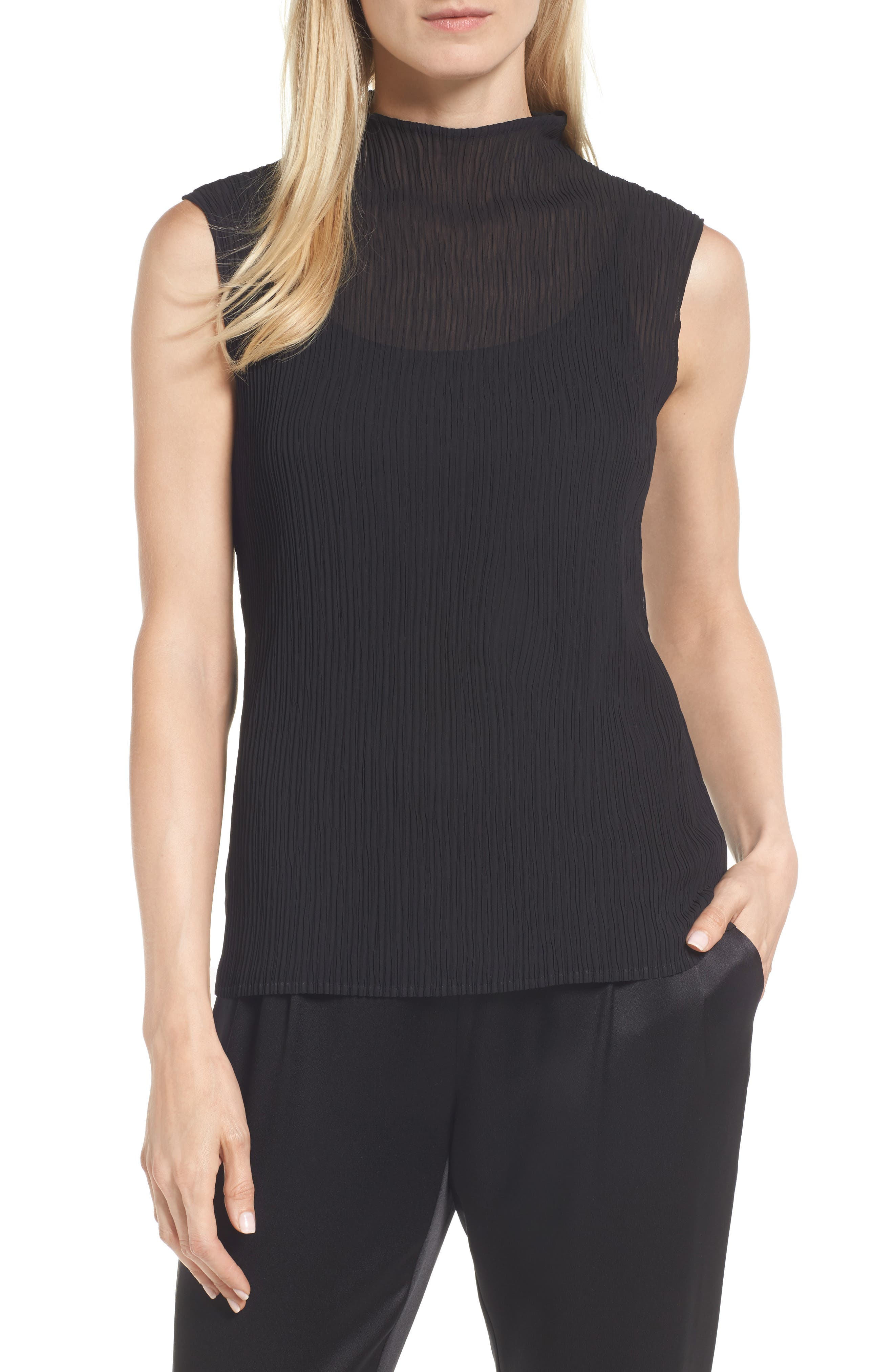 Alternate Image 1 Selected - Eileen Fisher Funnel Neck Tank