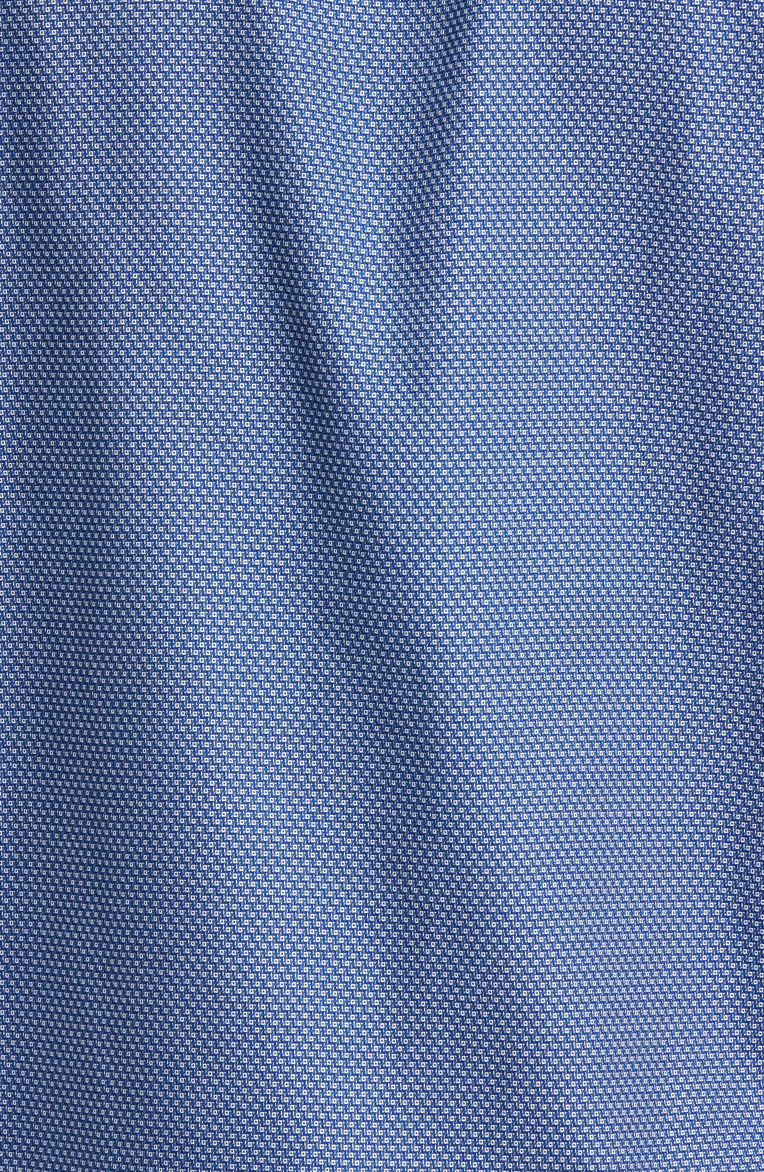 Non-Iron Regular Fit Print Sport Shirt,                             Alternate thumbnail 5, color,                             Blue Estate Square Dobby