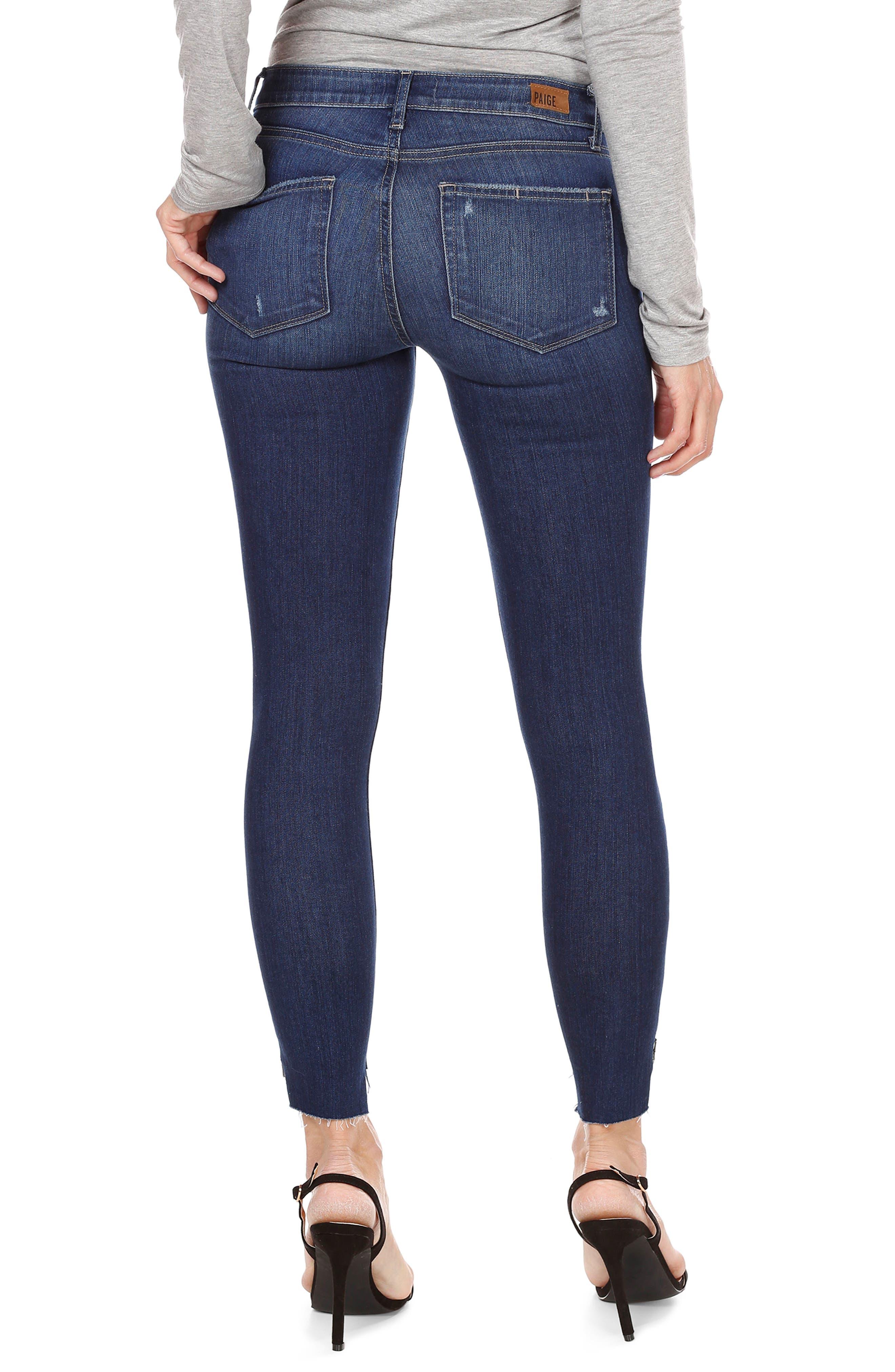 Hoxton High Waist Ankle Skinny Jeans,                             Alternate thumbnail 2, color,                             Marina