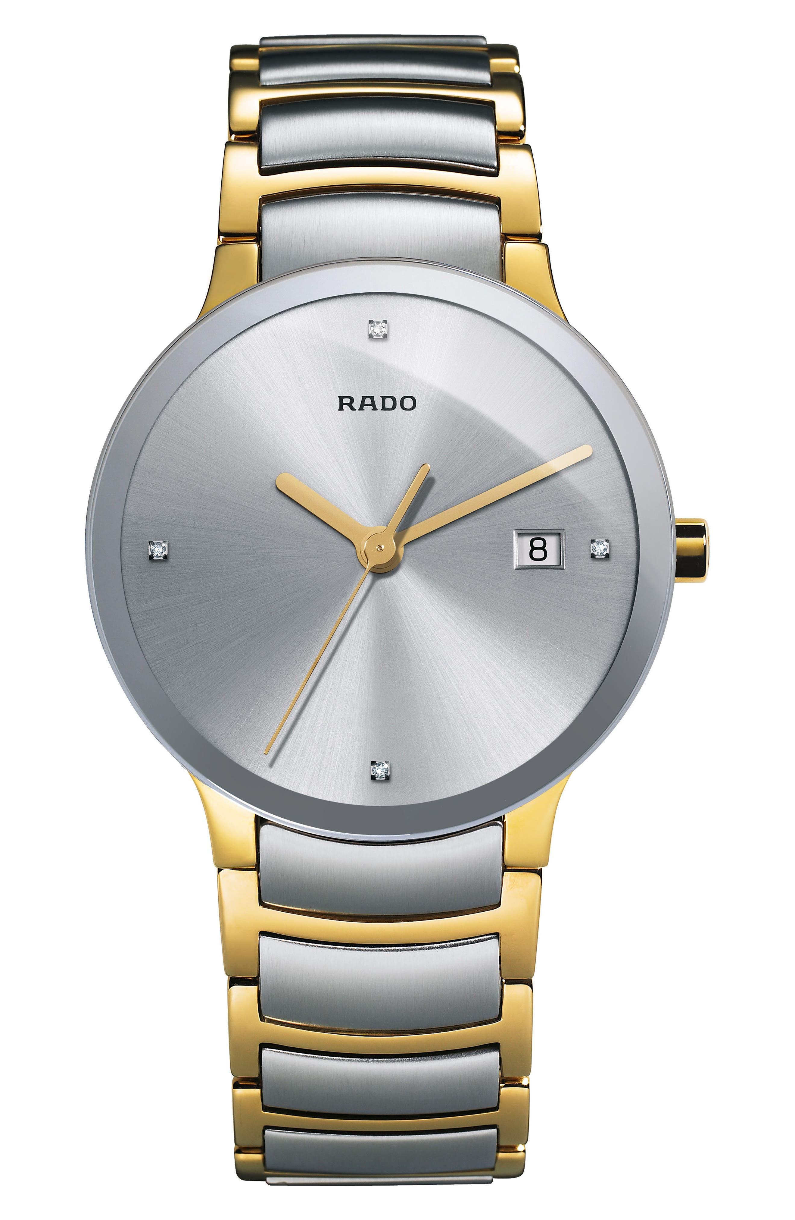 Centrix Diamond Bracelet Watch, 38mm,                             Main thumbnail 1, color,                             Gold/ Silver
